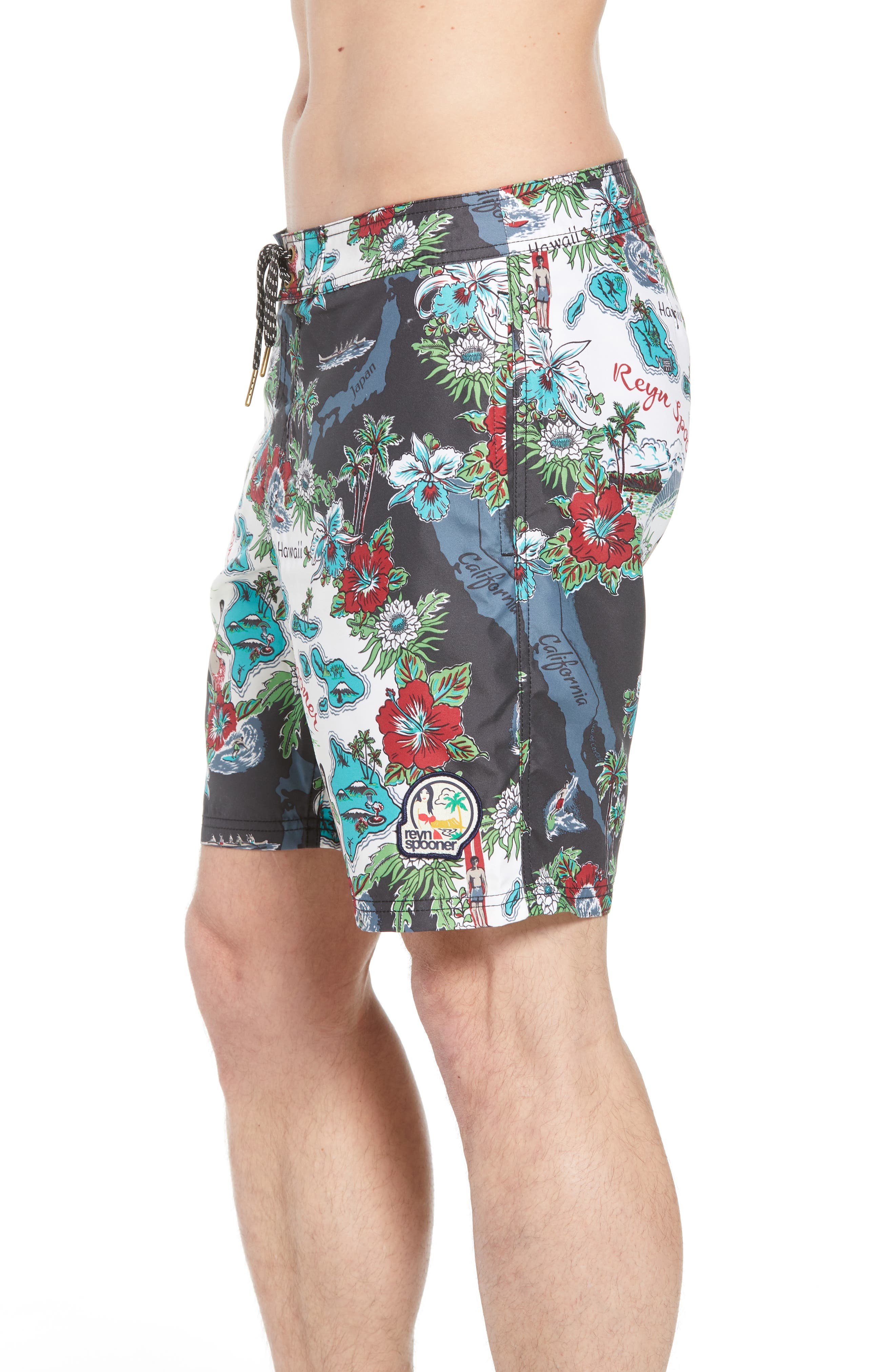 Status Oceanic Regular Fit Board Shorts,                             Alternate thumbnail 7, color,