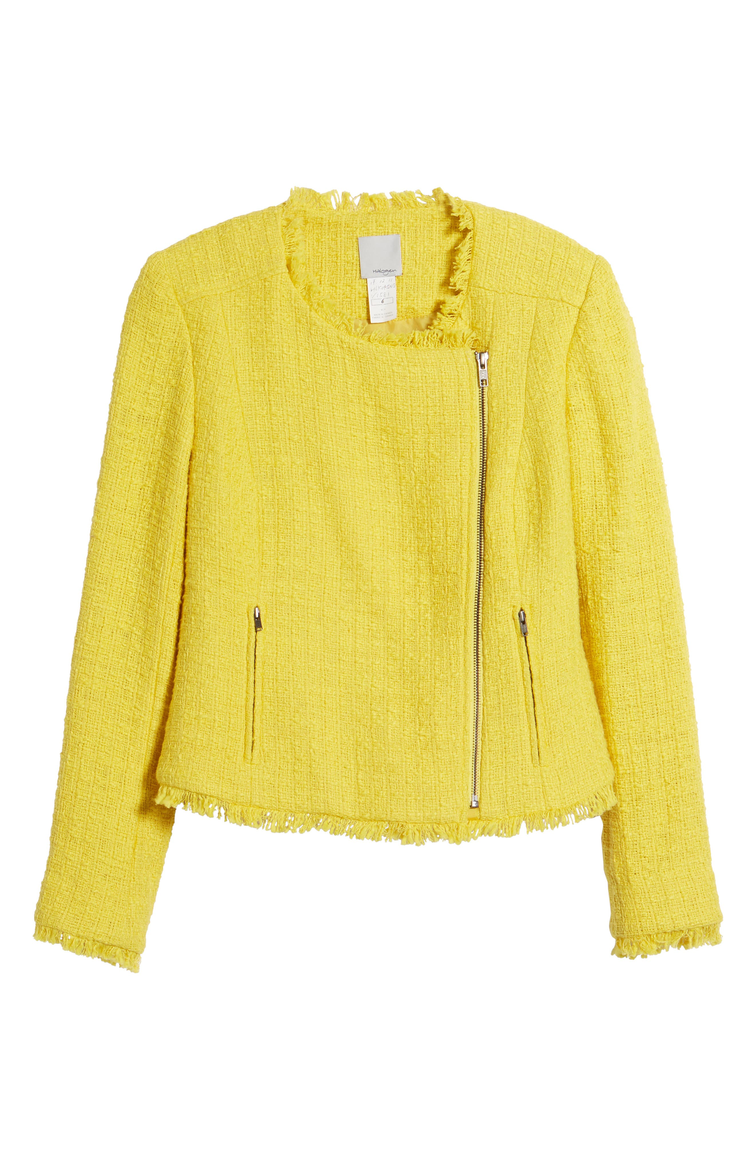 Tweed Moto Jacket,                             Alternate thumbnail 6, color,                             701