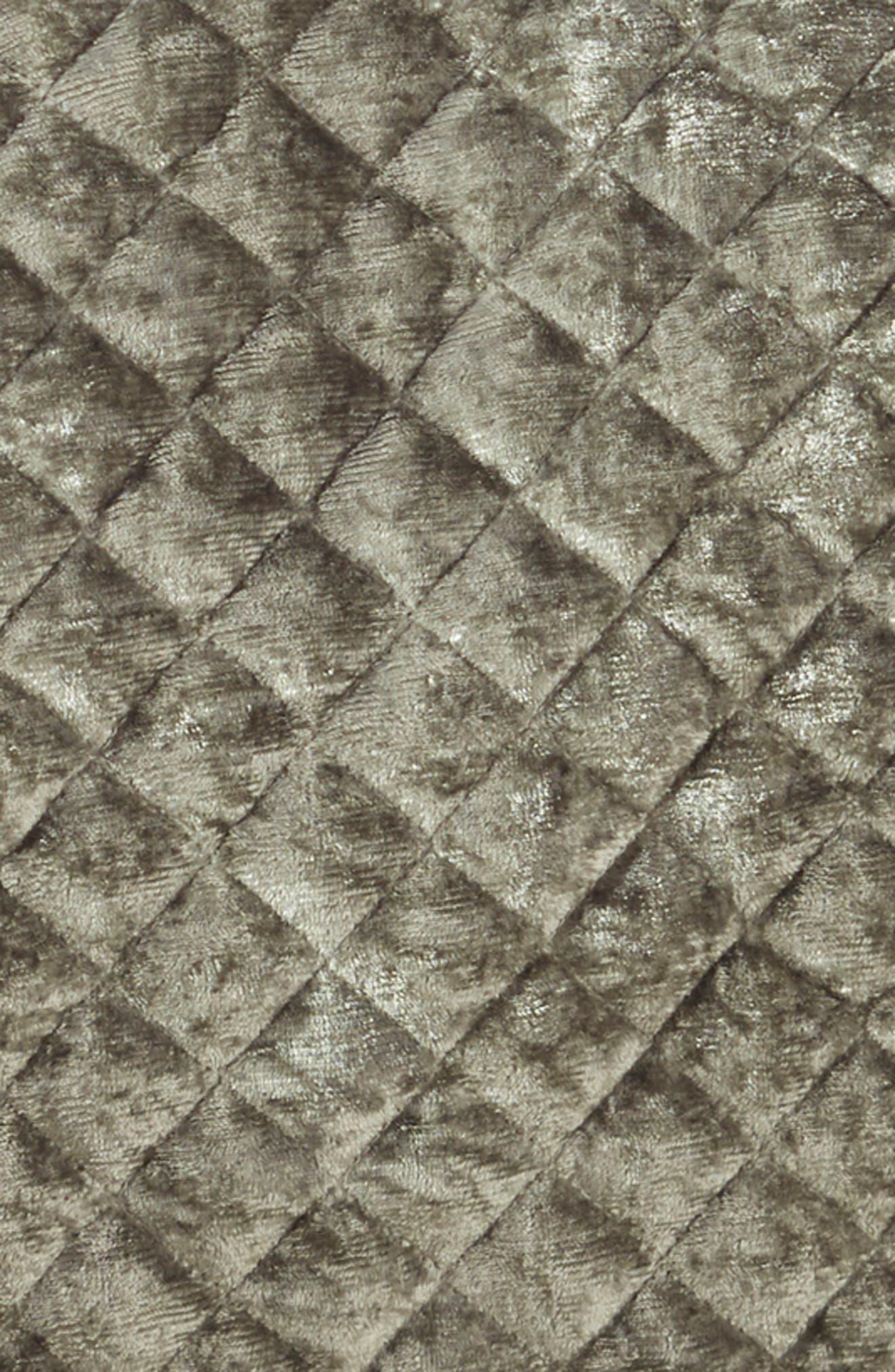 Crushed Velvet Quilt,                             Alternate thumbnail 2, color,                             SILVER