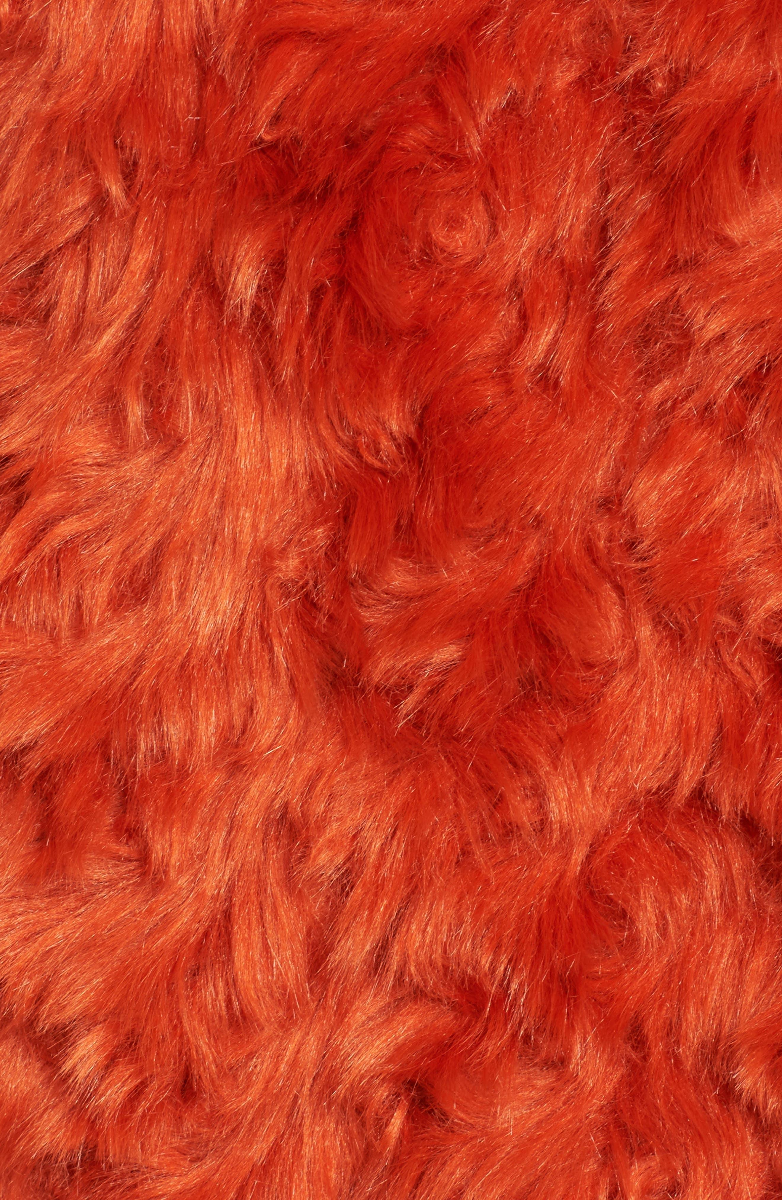 Curly Faux Fur Jacket,                             Alternate thumbnail 6, color,                             800