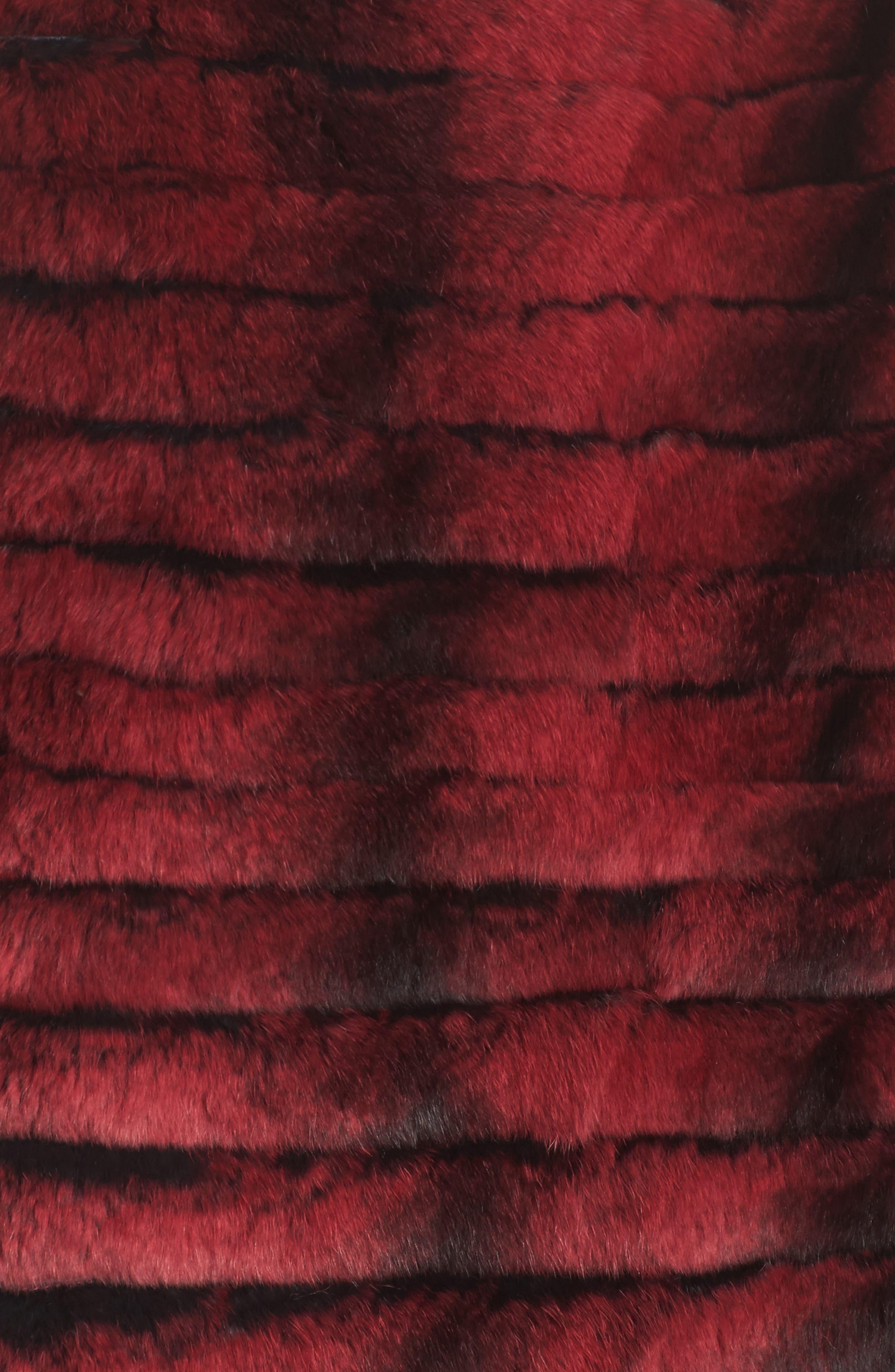 Genuine Rabbit Fur Crop Jacket,                             Alternate thumbnail 11, color,
