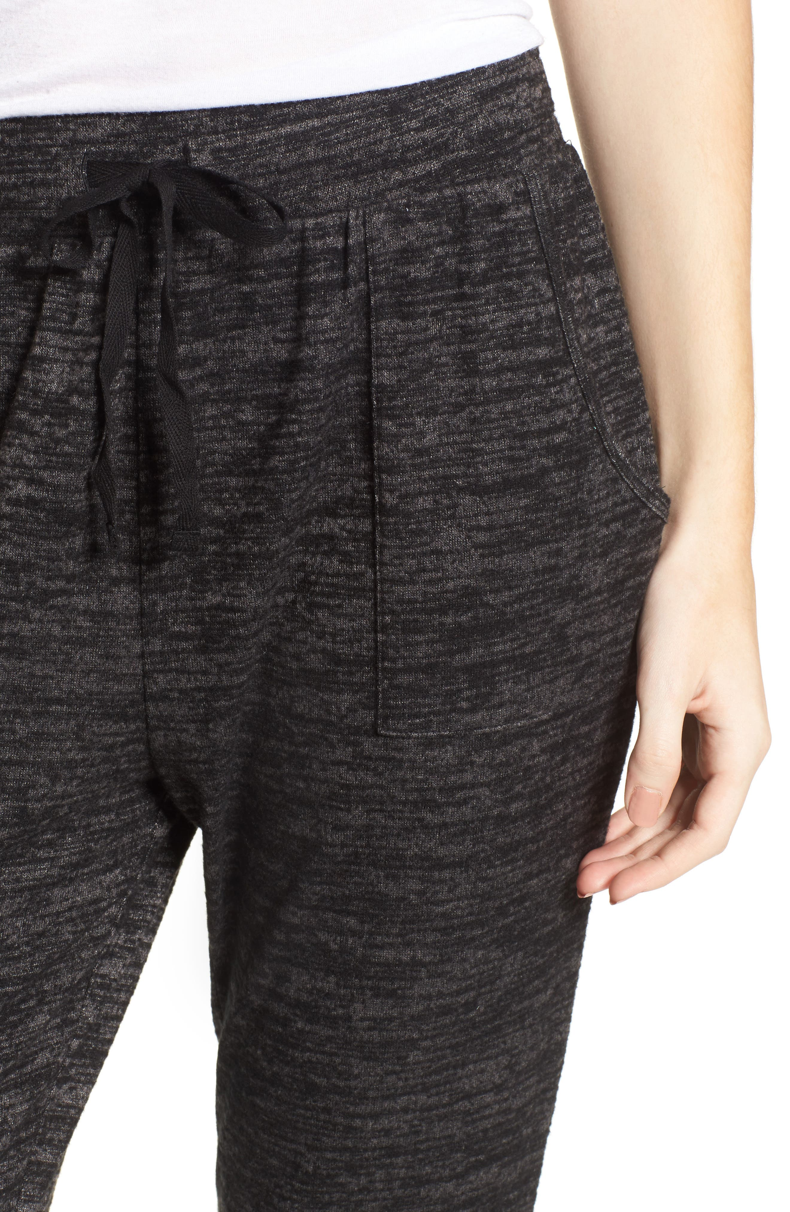 Stretch Knit Joggers,                             Alternate thumbnail 4, color,                             001