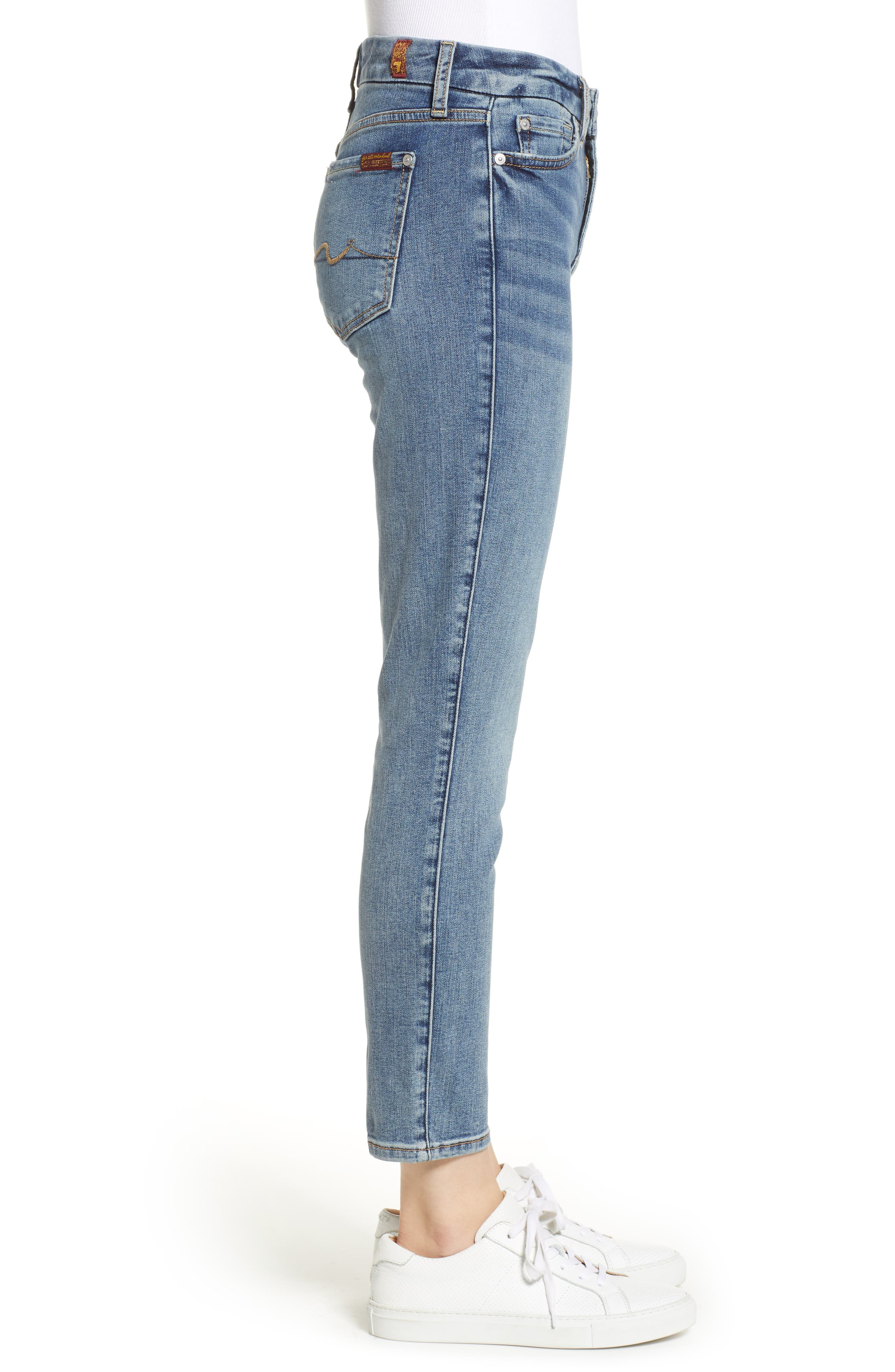 7 FOR ALL MANKIND<SUP>®</SUP>,                             b(air) Kimmie Crop Slim Jeans,                             Alternate thumbnail 3, color,                             402