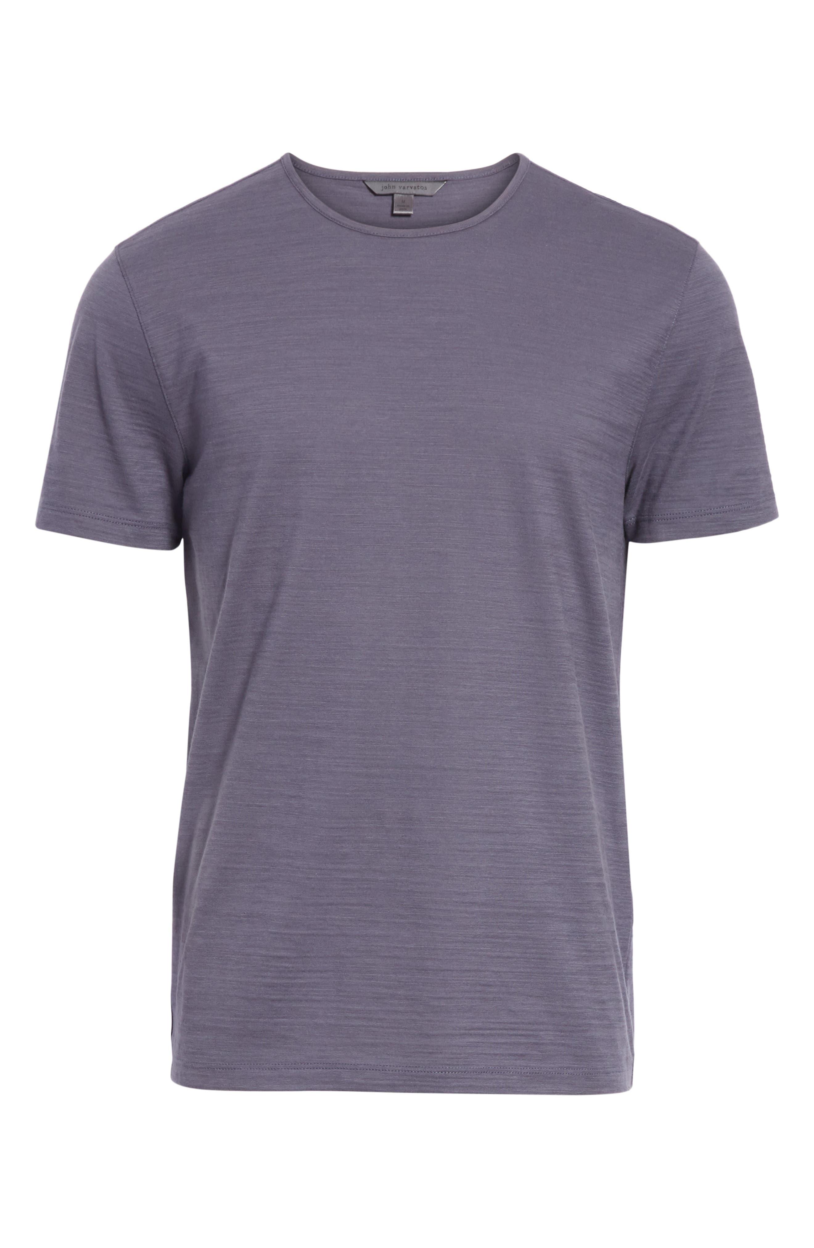 Slub Crewneck T-Shirt,                             Alternate thumbnail 6, color,                             AUBERGINE