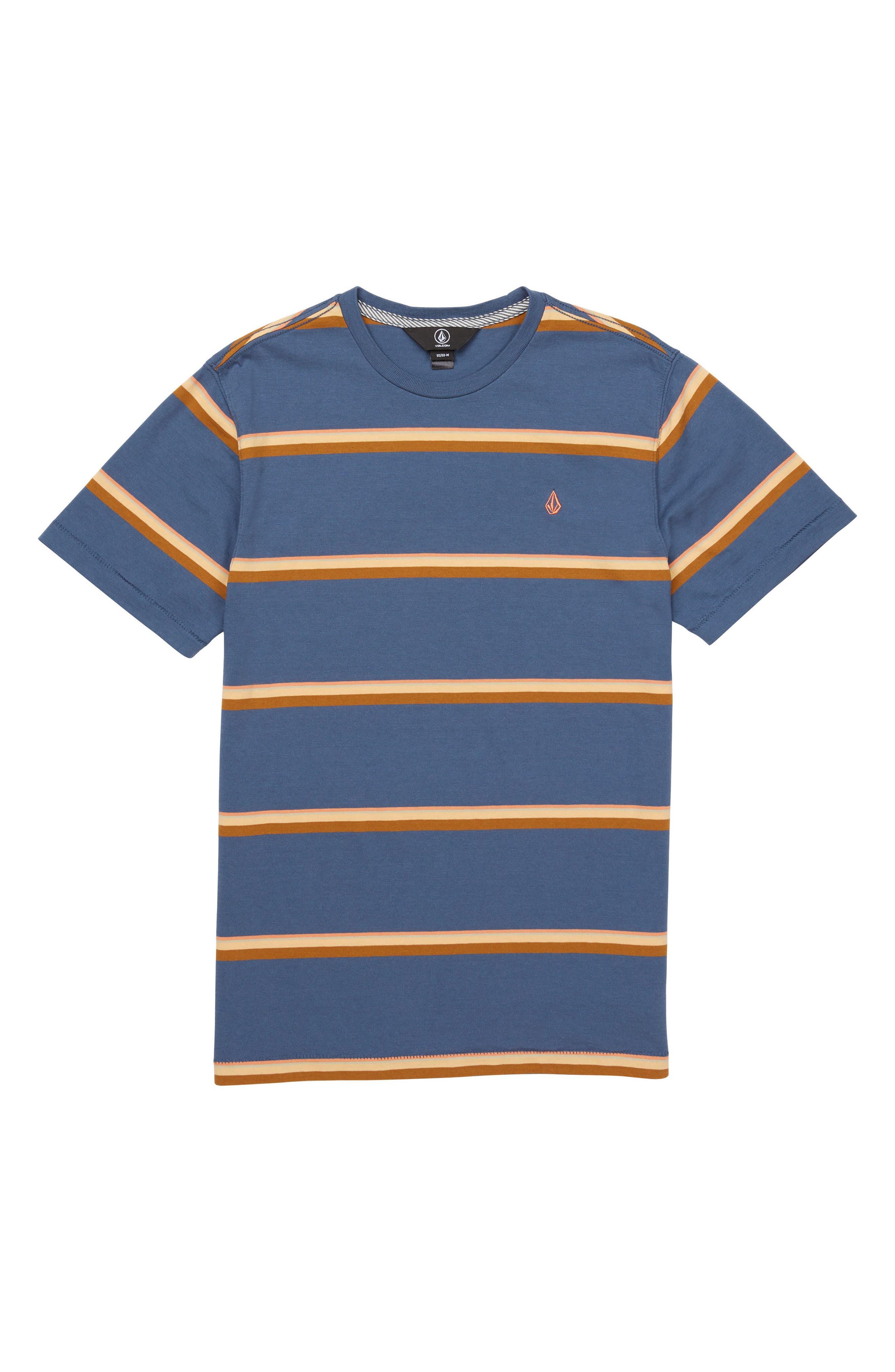 Sheldon Stripe Crewneck T-Shirt,                             Main thumbnail 1, color,                             463