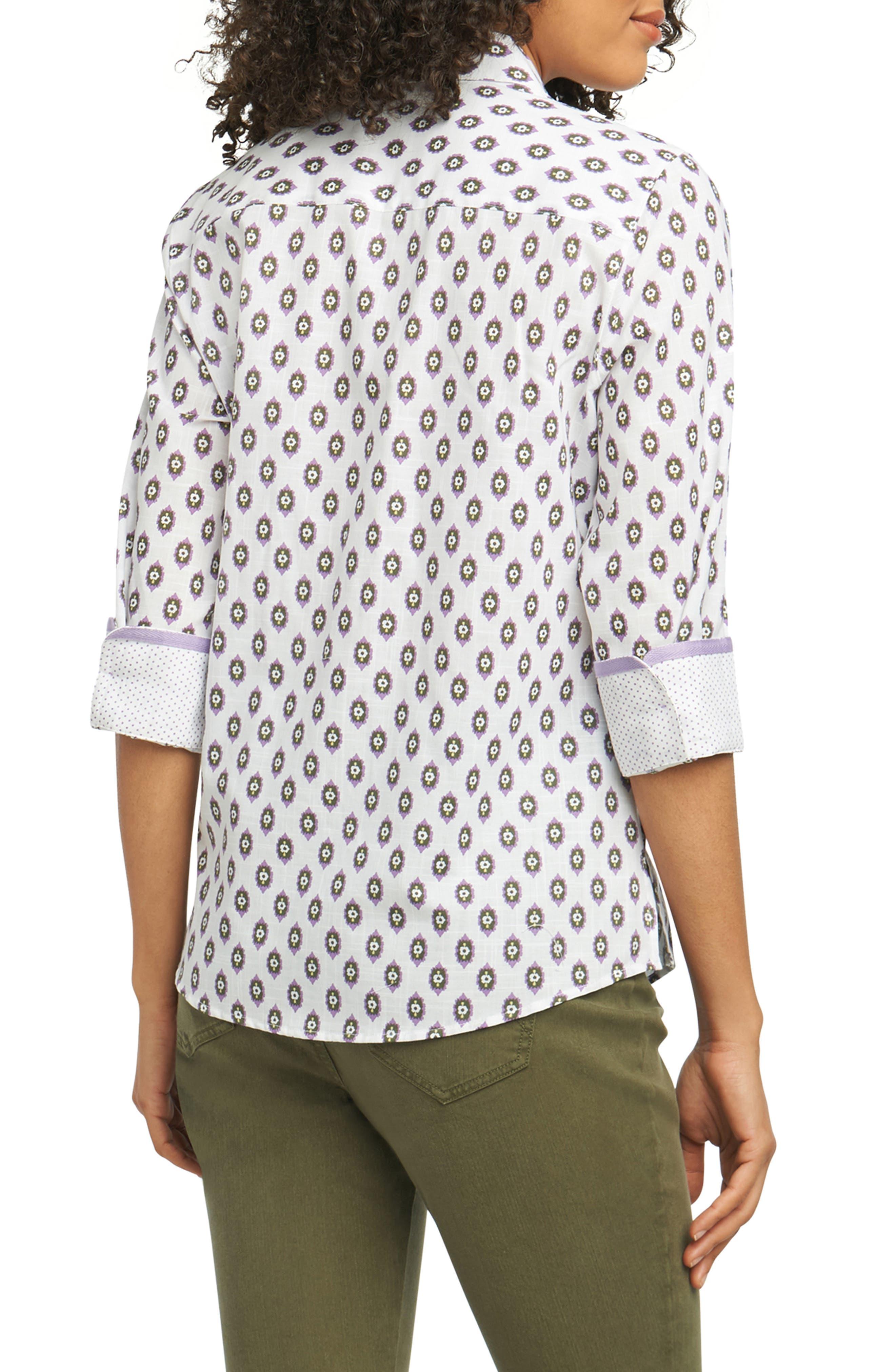 Ava Ikat Dot Wrinkle-Free Shirt,                             Alternate thumbnail 2, color,                             500
