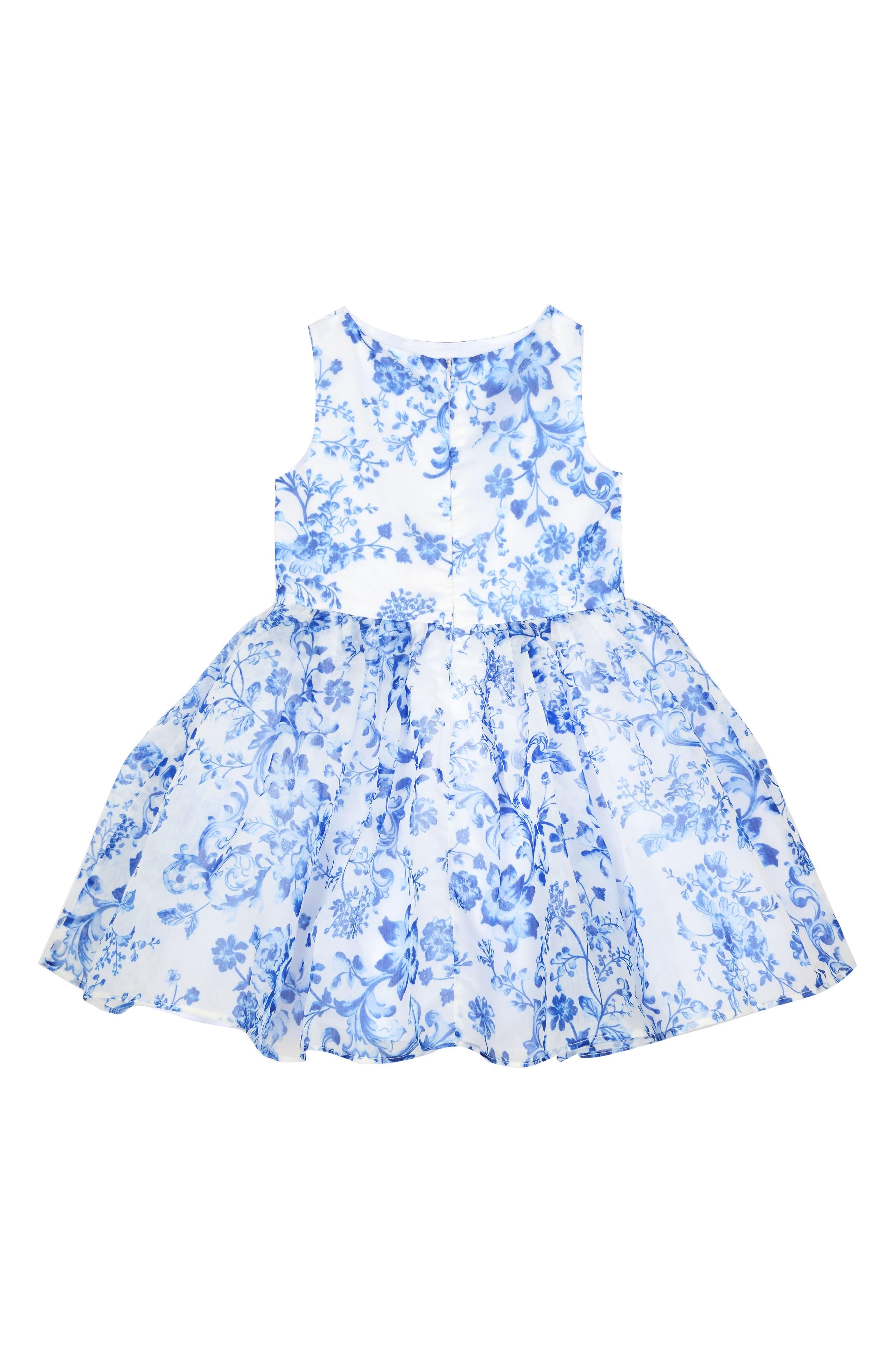 Provençal Print Dress,                             Alternate thumbnail 2, color,                             402