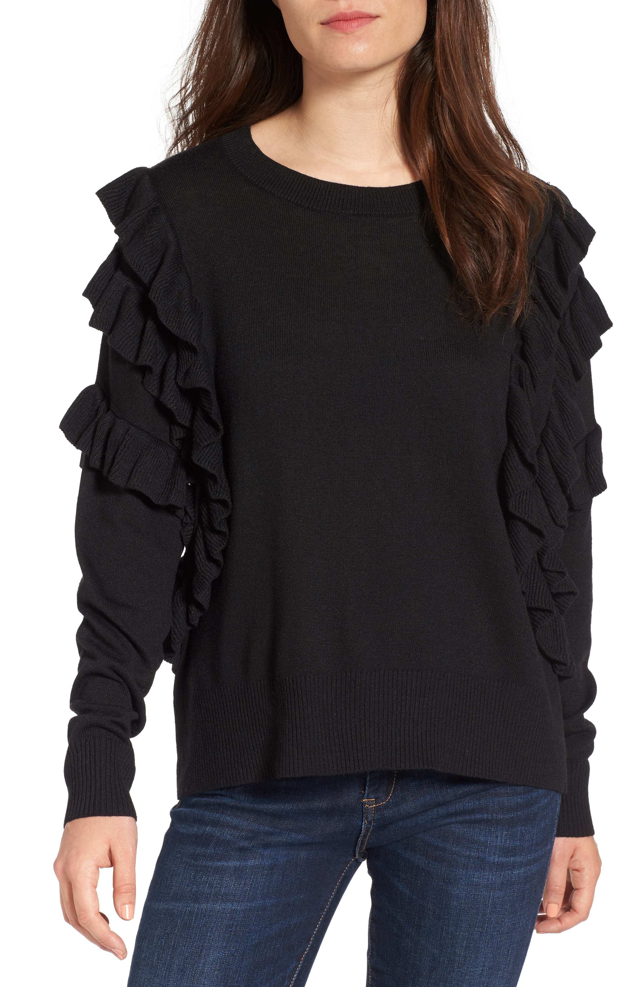 Ruffle Pullover,                         Main,                         color,