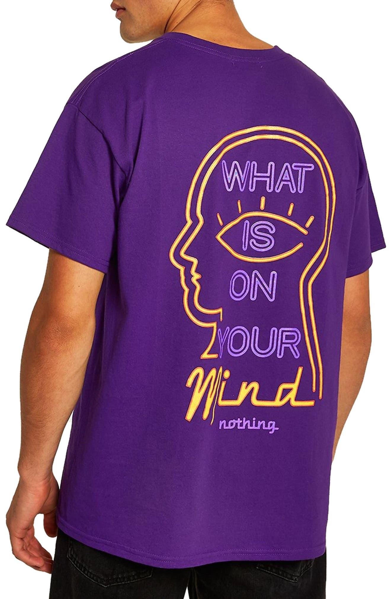 On Your Mind Graphic T-Shirt,                             Alternate thumbnail 2, color,                             PURPLE MULTI