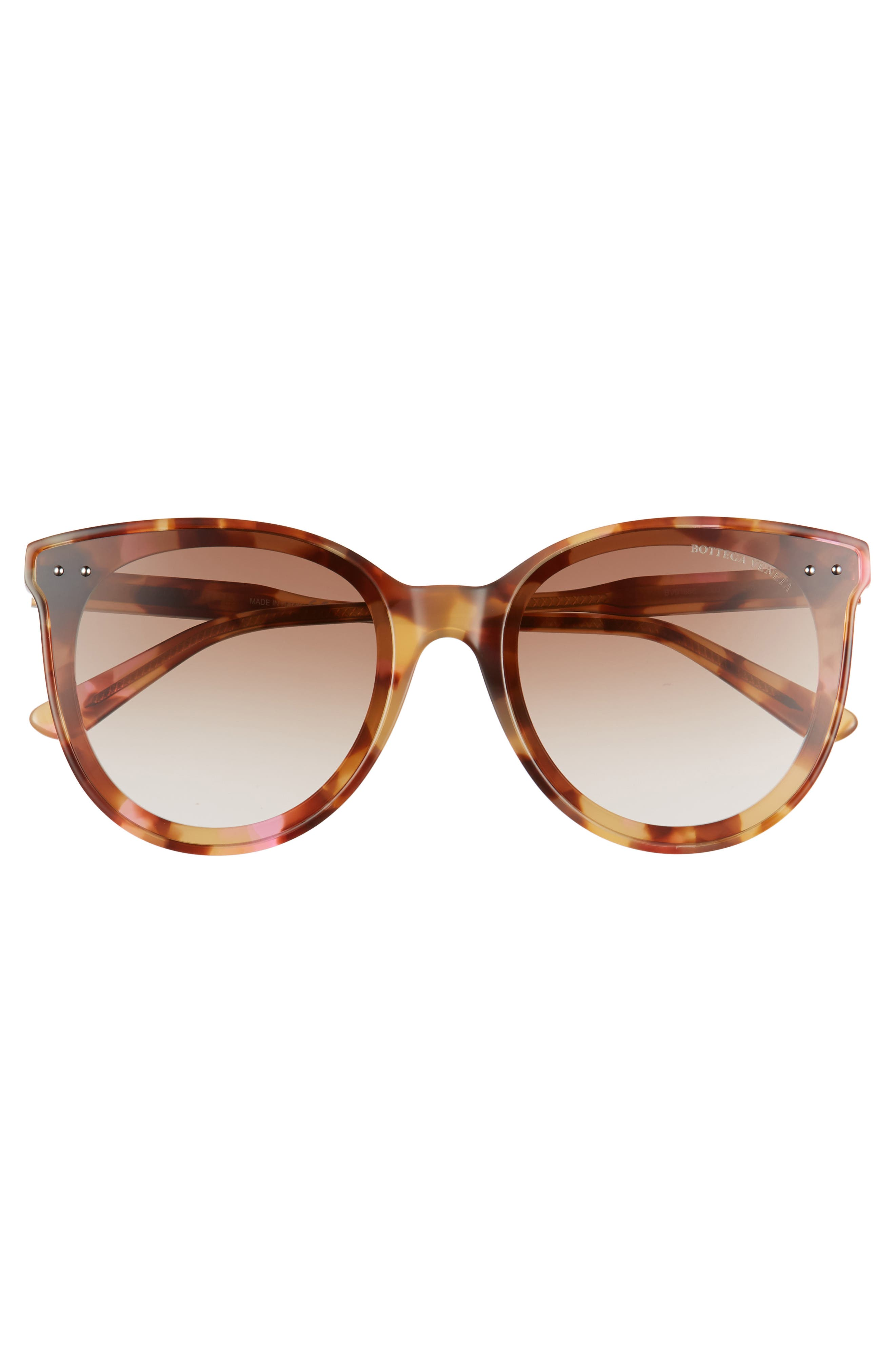 61mm Cat Eye Sunglasses,                             Alternate thumbnail 3, color,                             PINK HAVANA