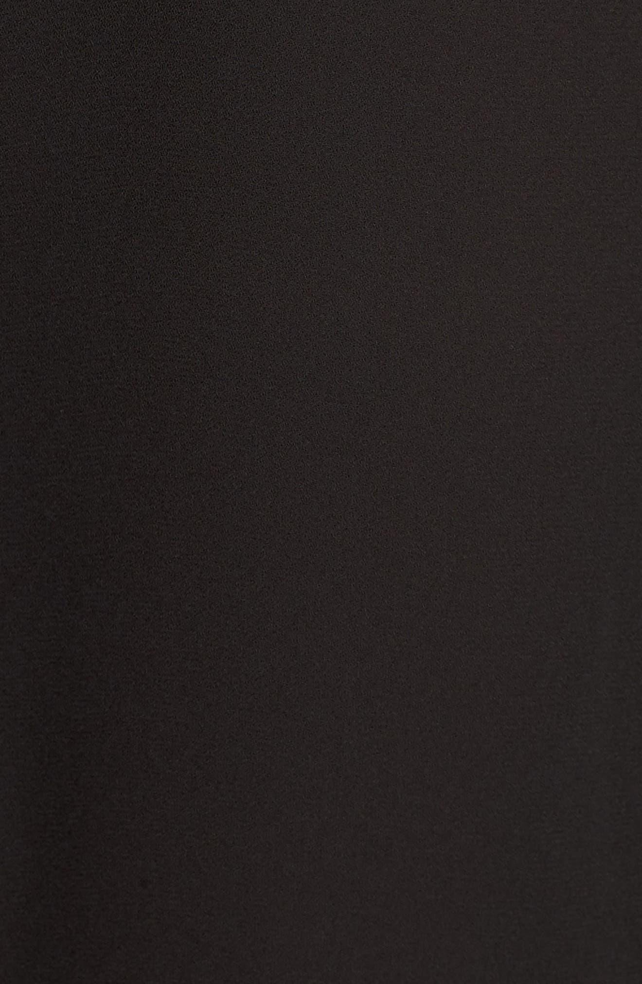 Lace Inset Blouse,                             Alternate thumbnail 5, color,                             BLACK
