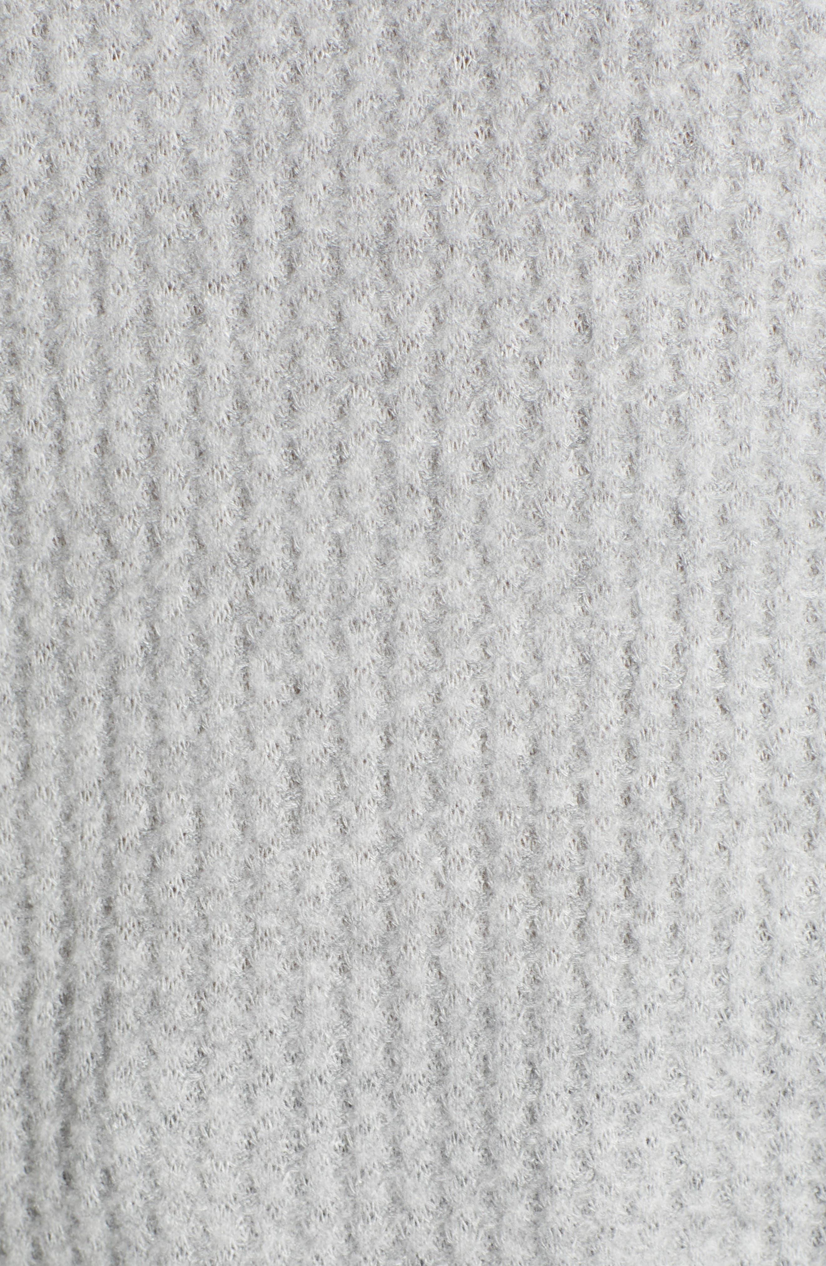 Cozy V-Neck Waffle Knit Tee,                             Alternate thumbnail 5, color,                             030