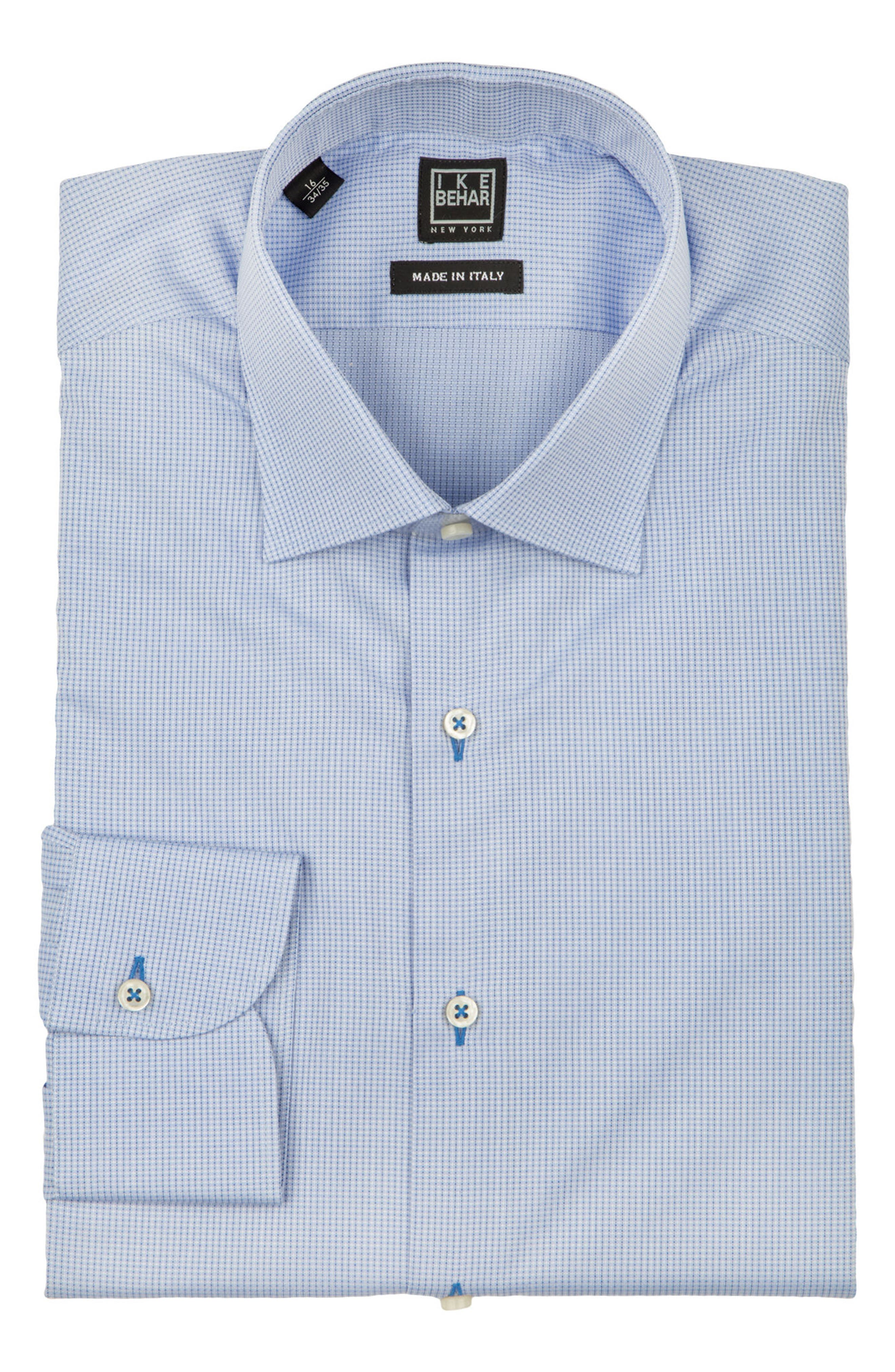 Regular Fit Solid Dress Shirt,                             Alternate thumbnail 5, color,                             LIGHT BLUE