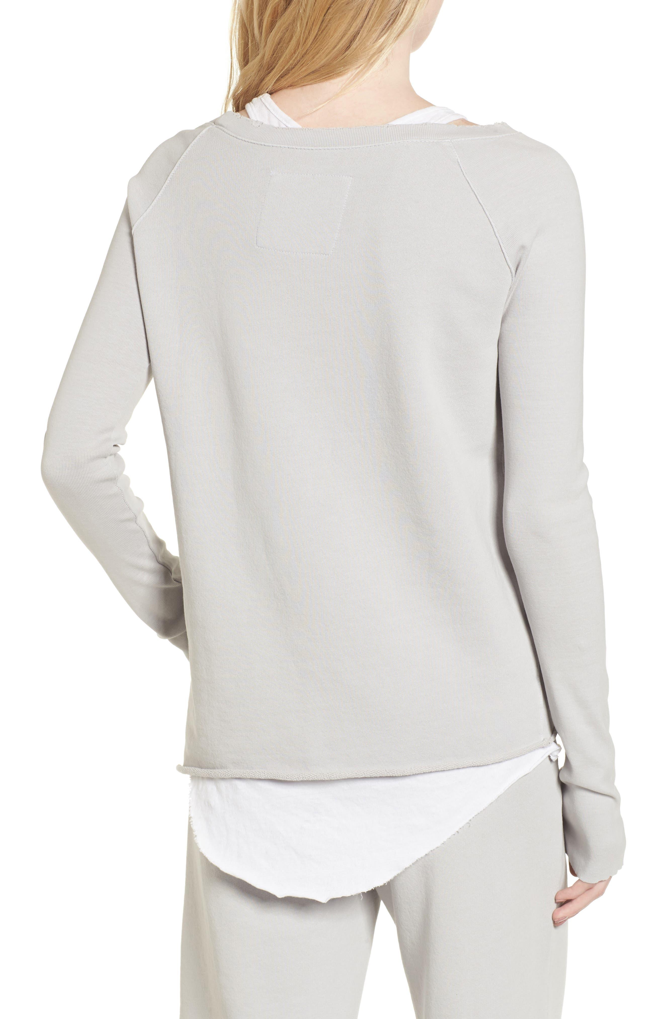 Asymmetric Sweatshirt,                             Alternate thumbnail 2, color,                             038