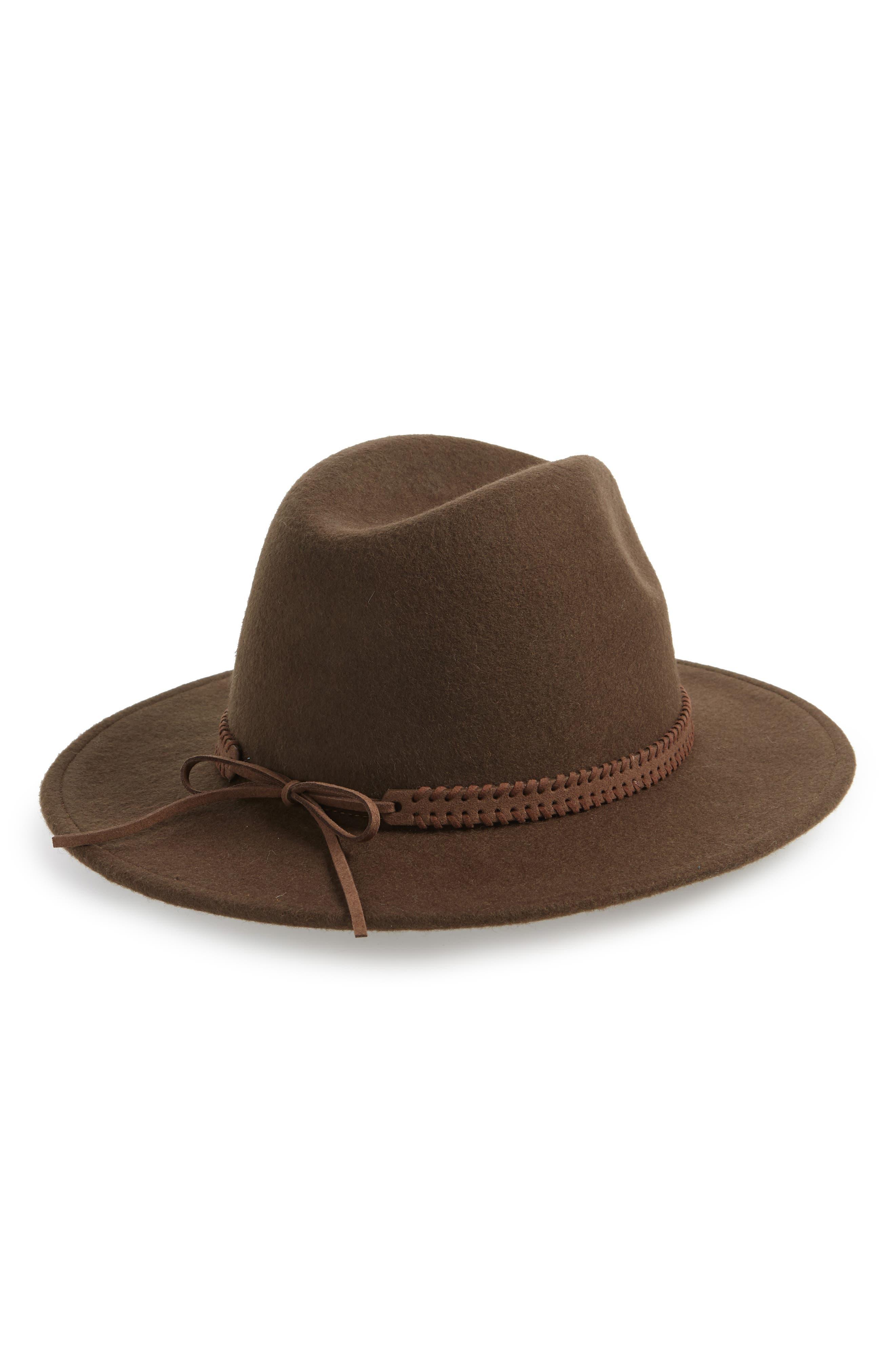 Felt Panama Hat,                             Alternate thumbnail 2, color,                             DARK TAUPE