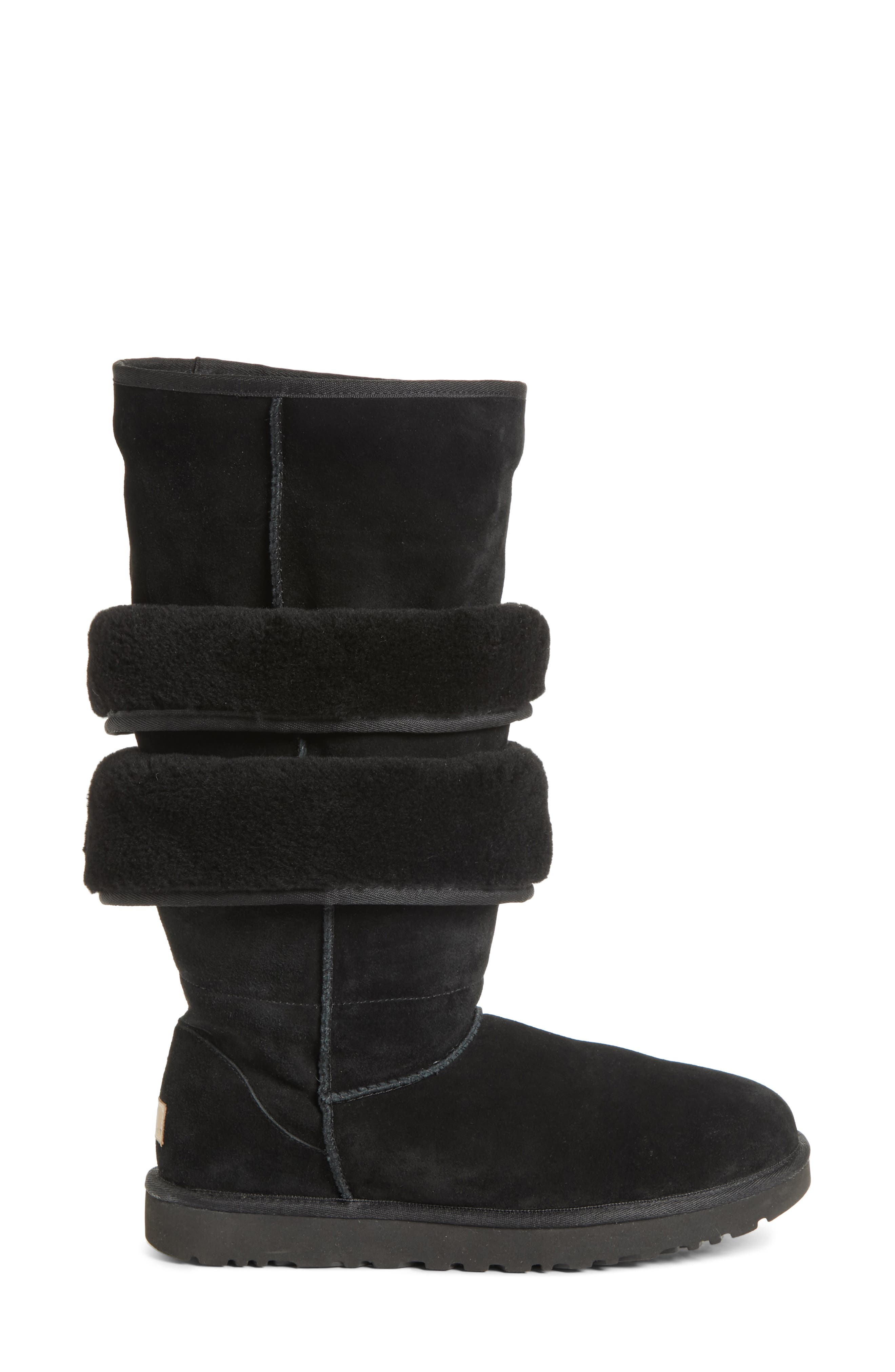x UGG<sup>®</sup> Layered Boot,                             Alternate thumbnail 3, color,                             NOIR