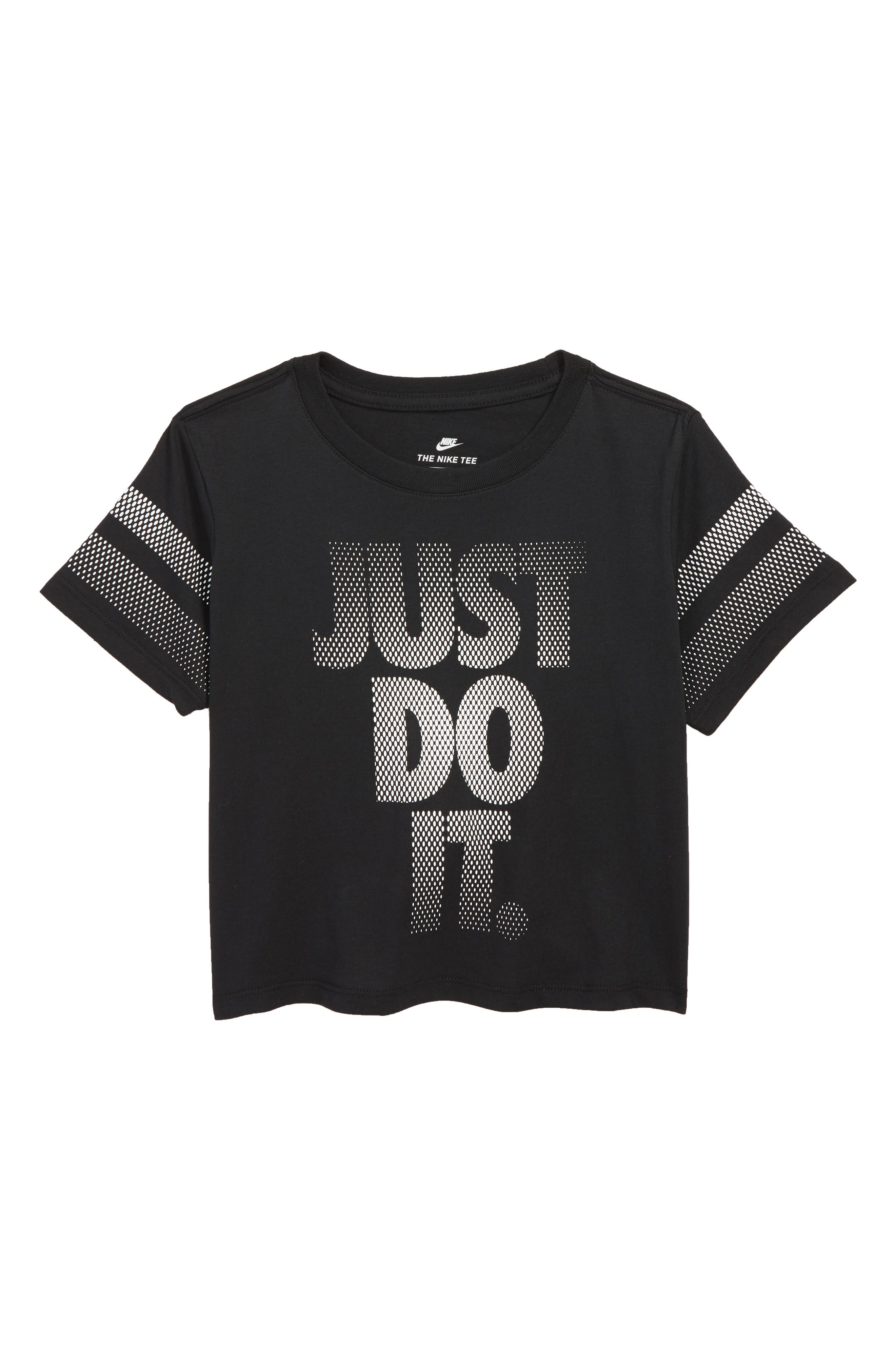 Sportswear Just Do It Tee,                             Main thumbnail 1, color,                             BLACK/ WHITE