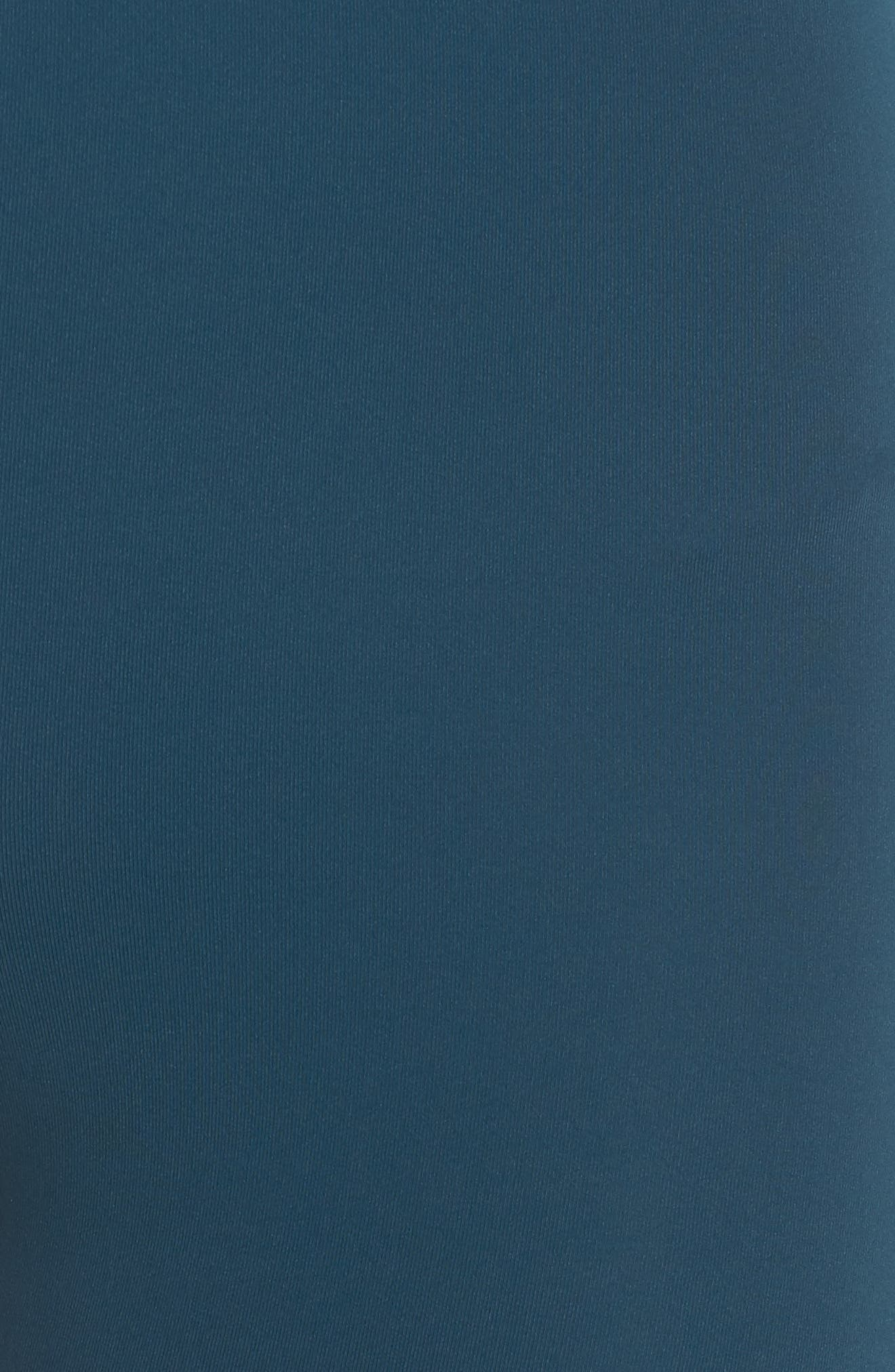 High Waist Stripe Ankle Leggings,                             Alternate thumbnail 6, color,                             TEAL ABYSS
