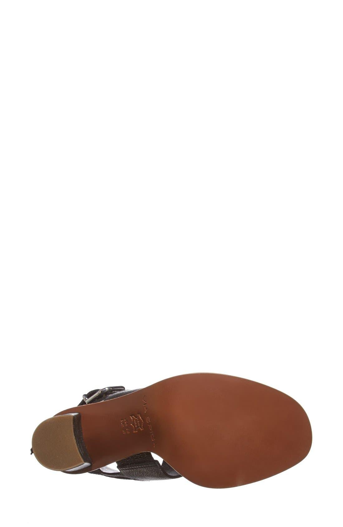 VIA SPIGA,                             'Baris' Leather Slingback Sandal,                             Alternate thumbnail 2, color,                             001