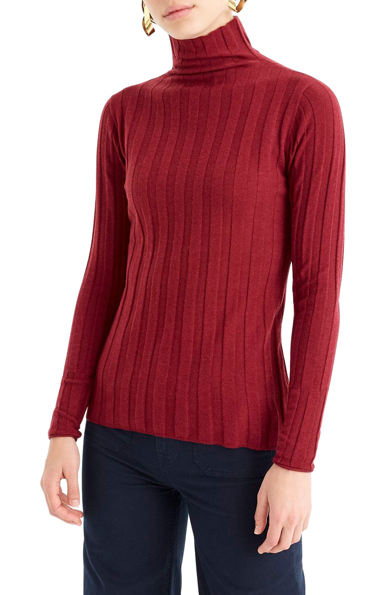 365 Stretch Ribbed Turtleneck Sweater,                             Main thumbnail 1, color,                             930