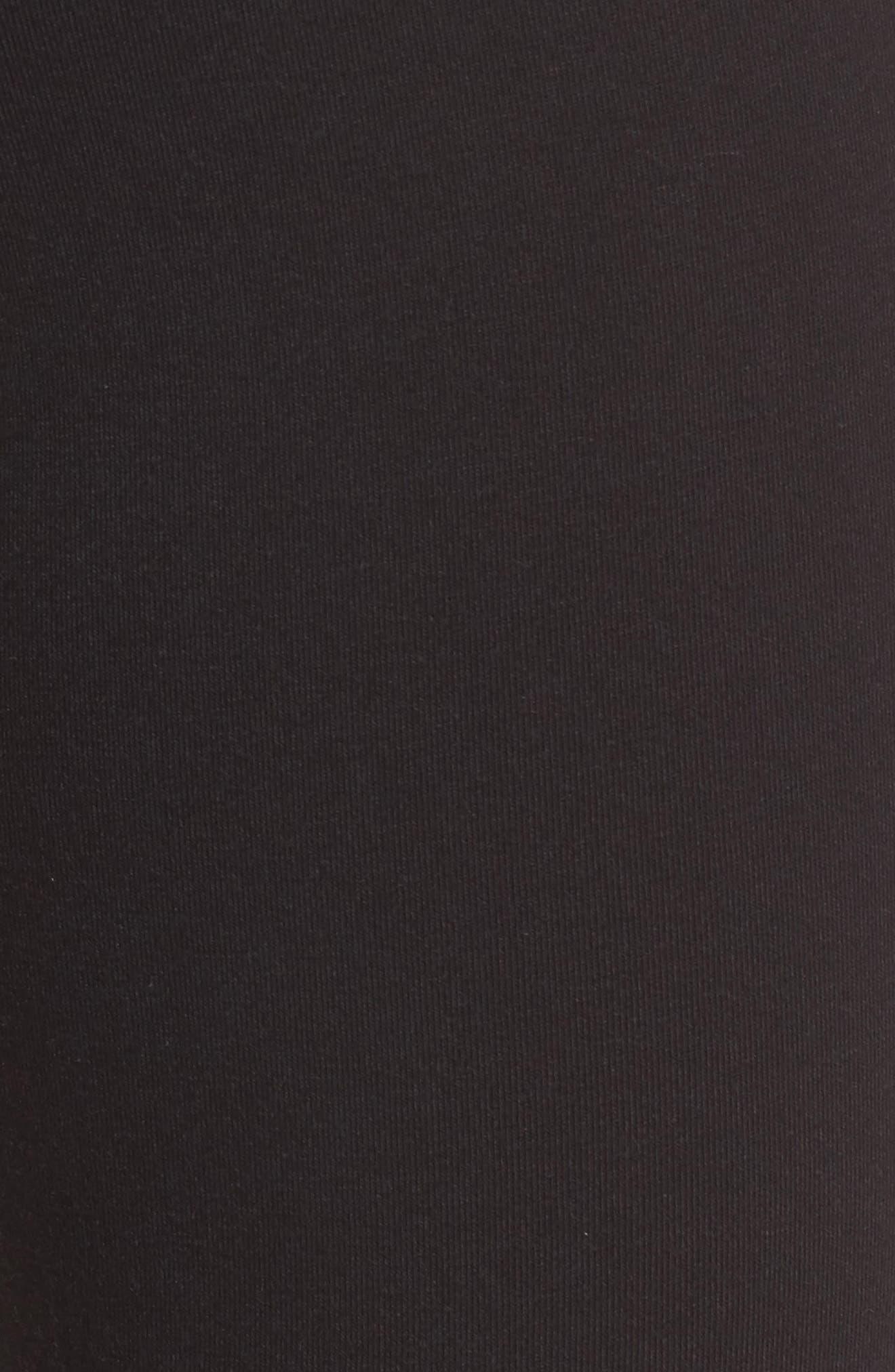 Faux Leather Tuxedo Stripe Leggings,                             Alternate thumbnail 5, color,                             001