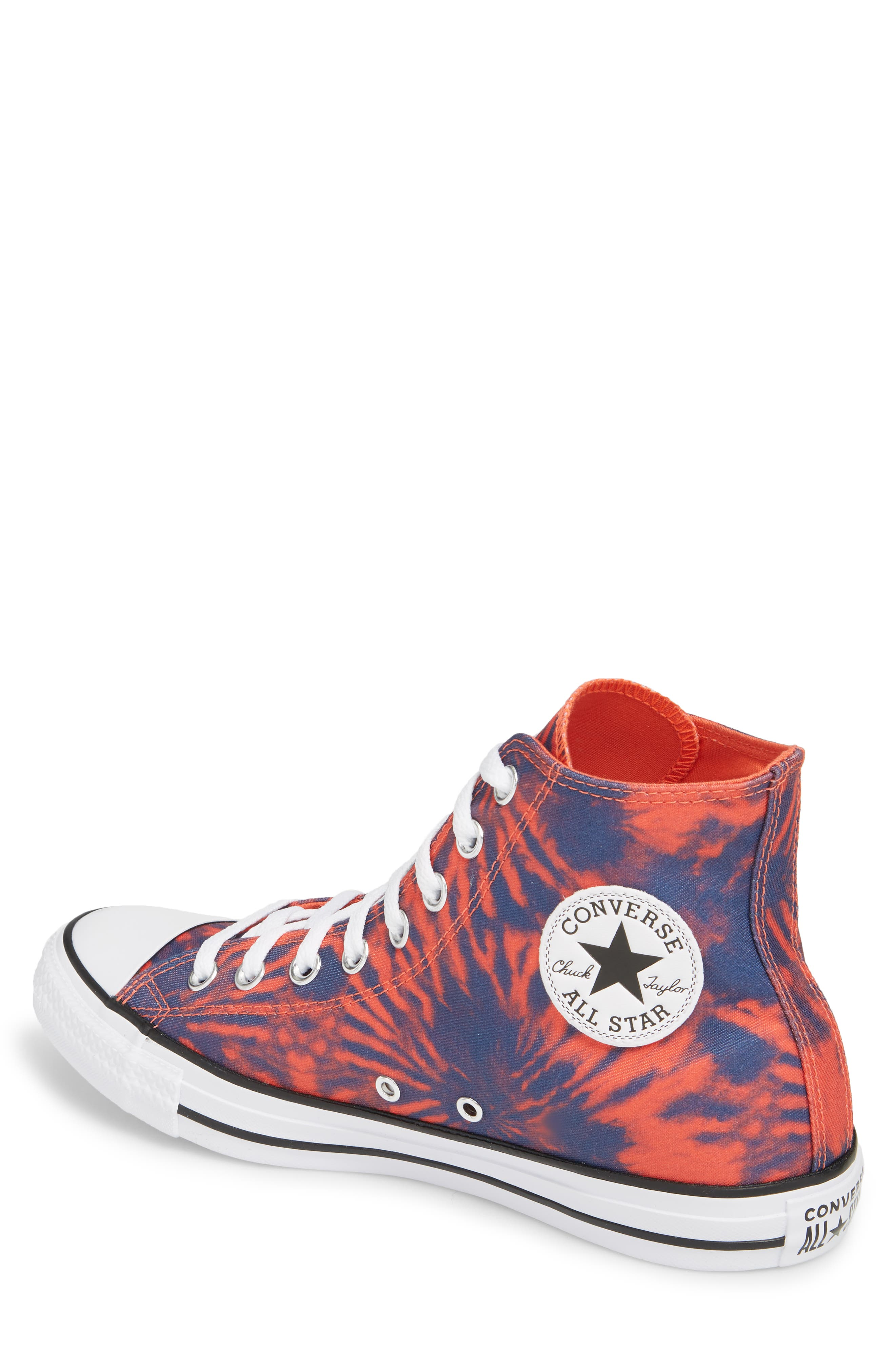 Chuck Taylor<sup>®</sup> All Star<sup>®</sup> Tie Dye High Top Sneaker,                             Alternate thumbnail 2, color,