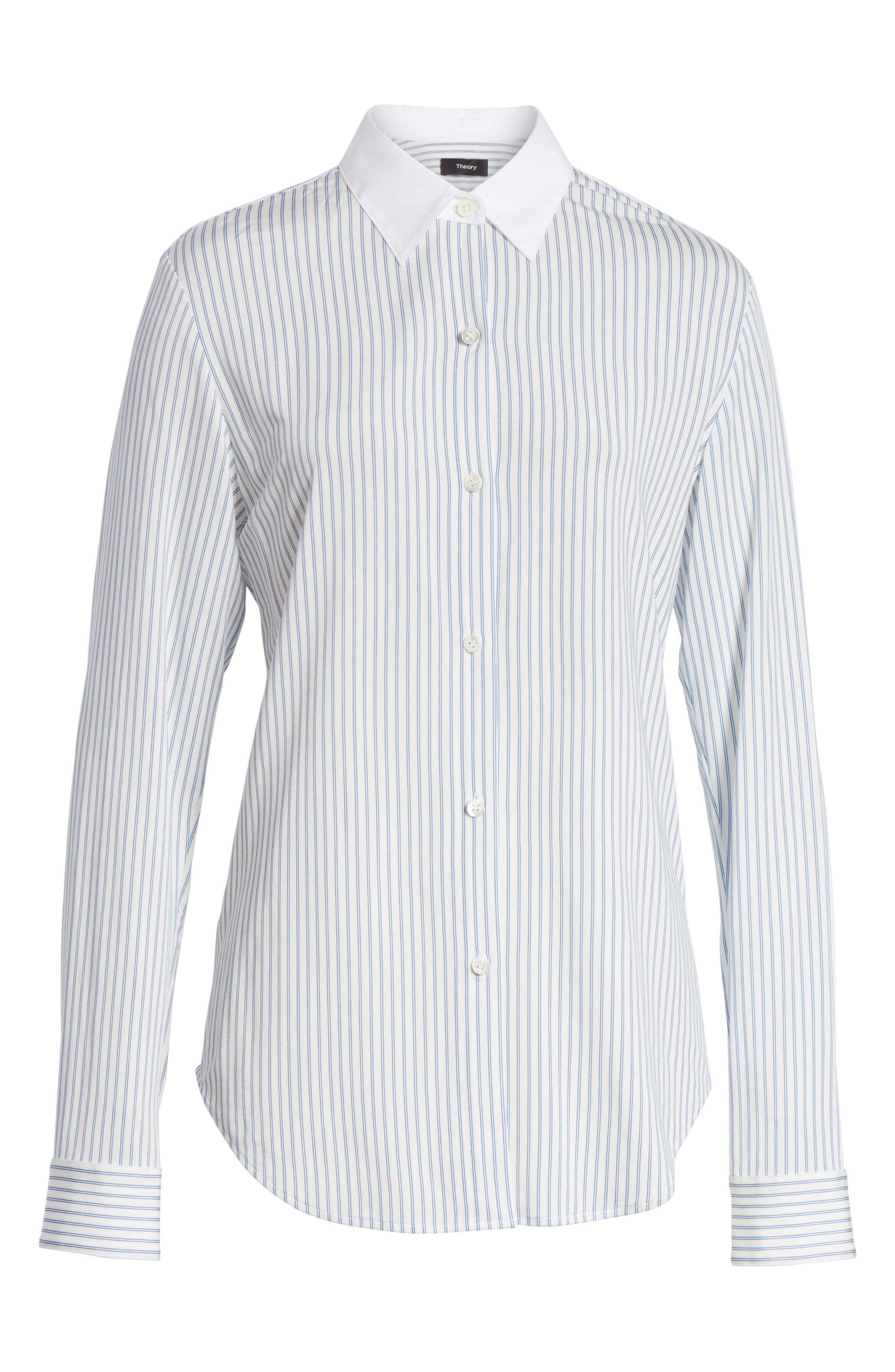 Essential Stripe Jersey Shirt,                             Alternate thumbnail 6, color,                             115