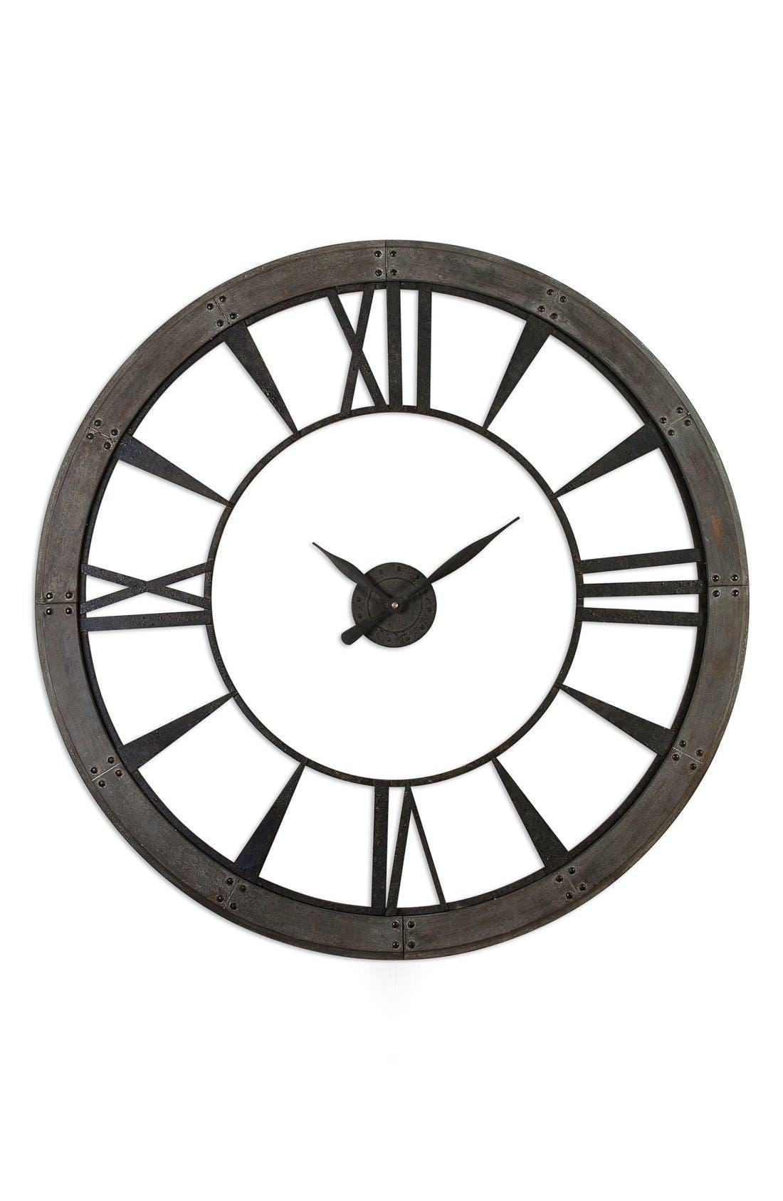 'Ronan' Wall Clock,                             Main thumbnail 1, color,                             001
