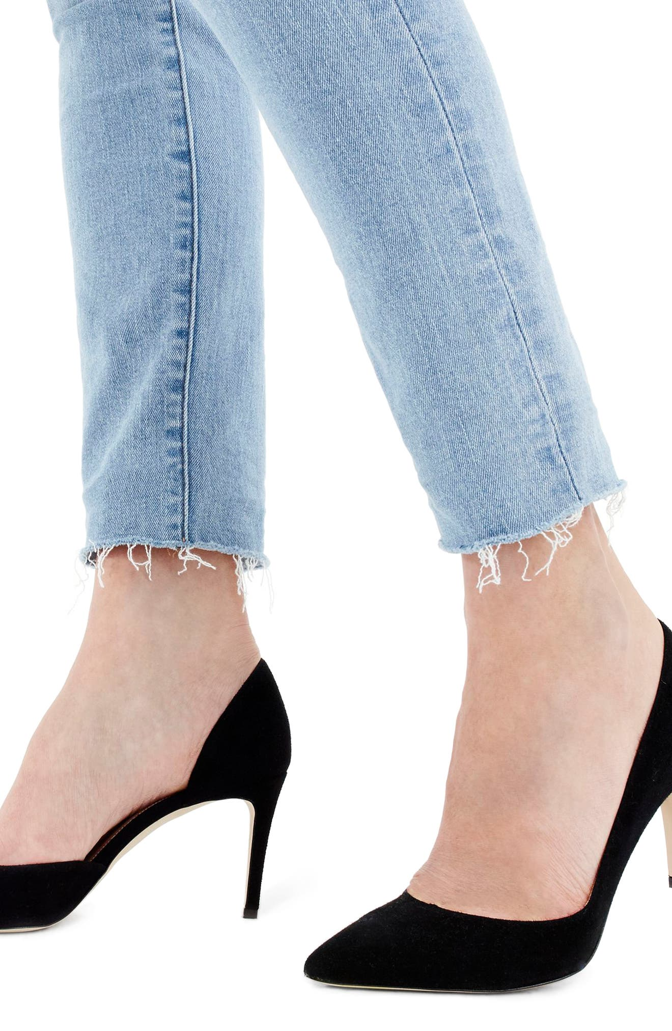 High Rise Toothpick Jeans,                             Alternate thumbnail 3, color,                             400