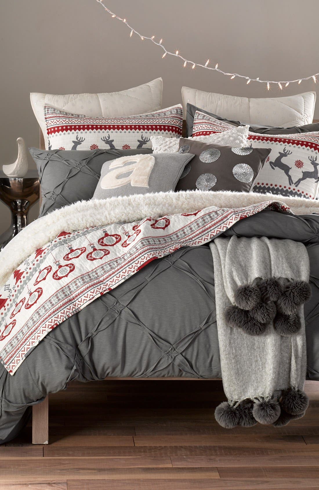 LEVTEX,                             'Silver Bells' Reversible Quilt,                             Alternate thumbnail 3, color,                             600
