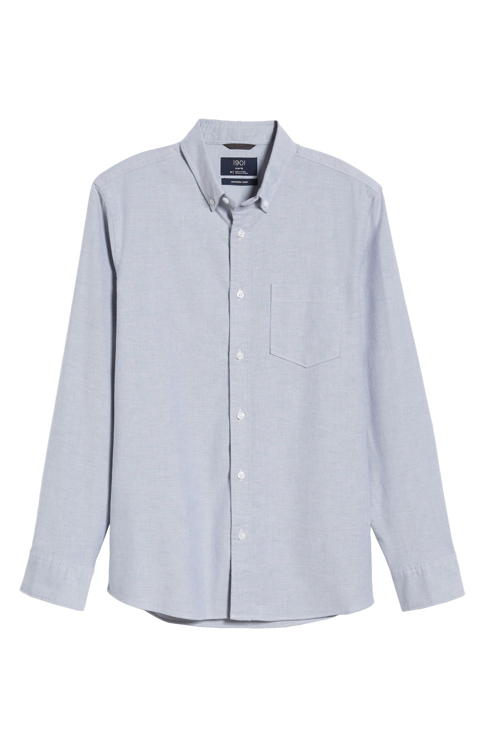 1901 Trim Fit Washed Oxford Shirt Nordstrom