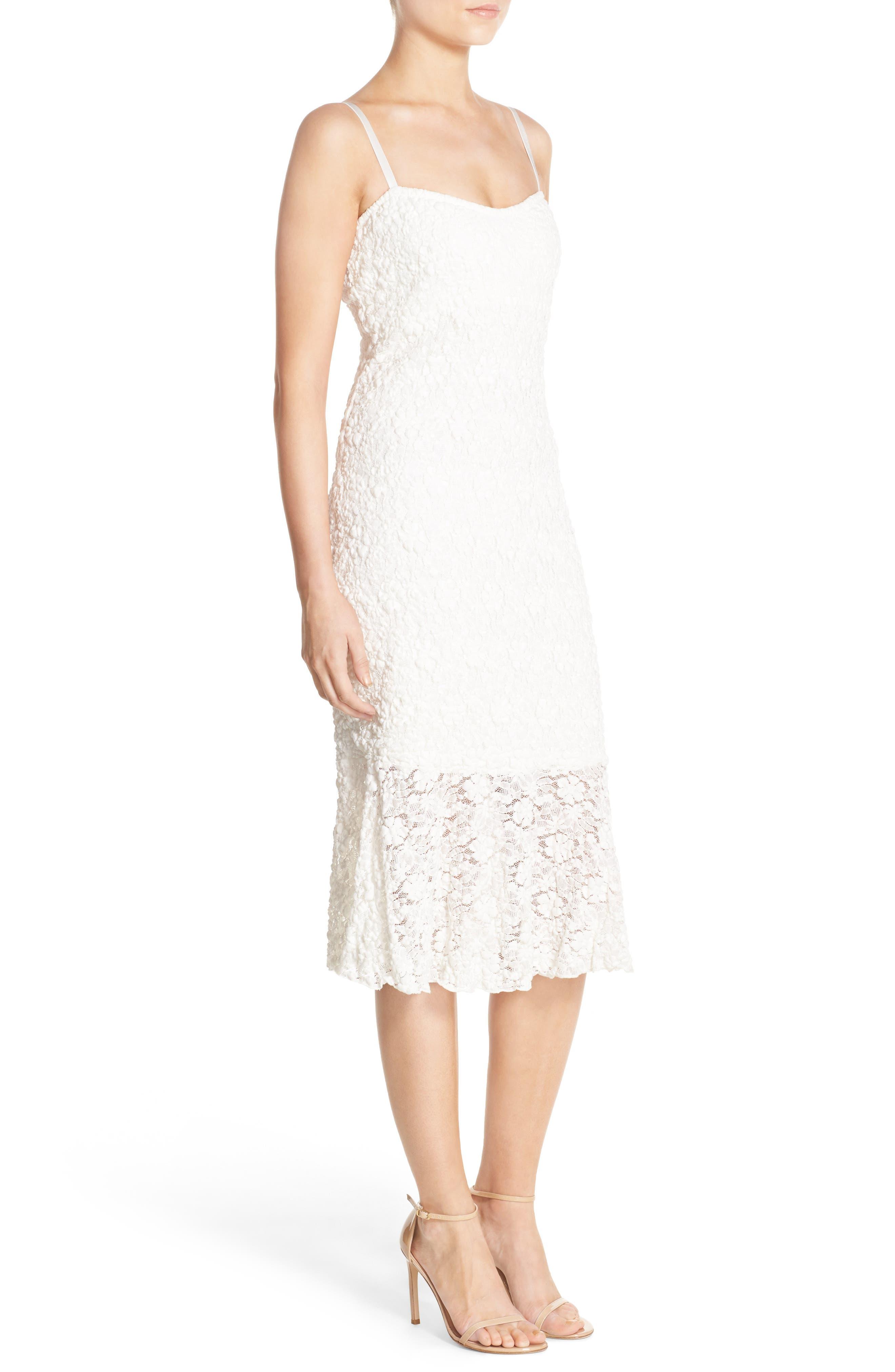 Lace Midi Dress,                             Alternate thumbnail 2, color,                             101
