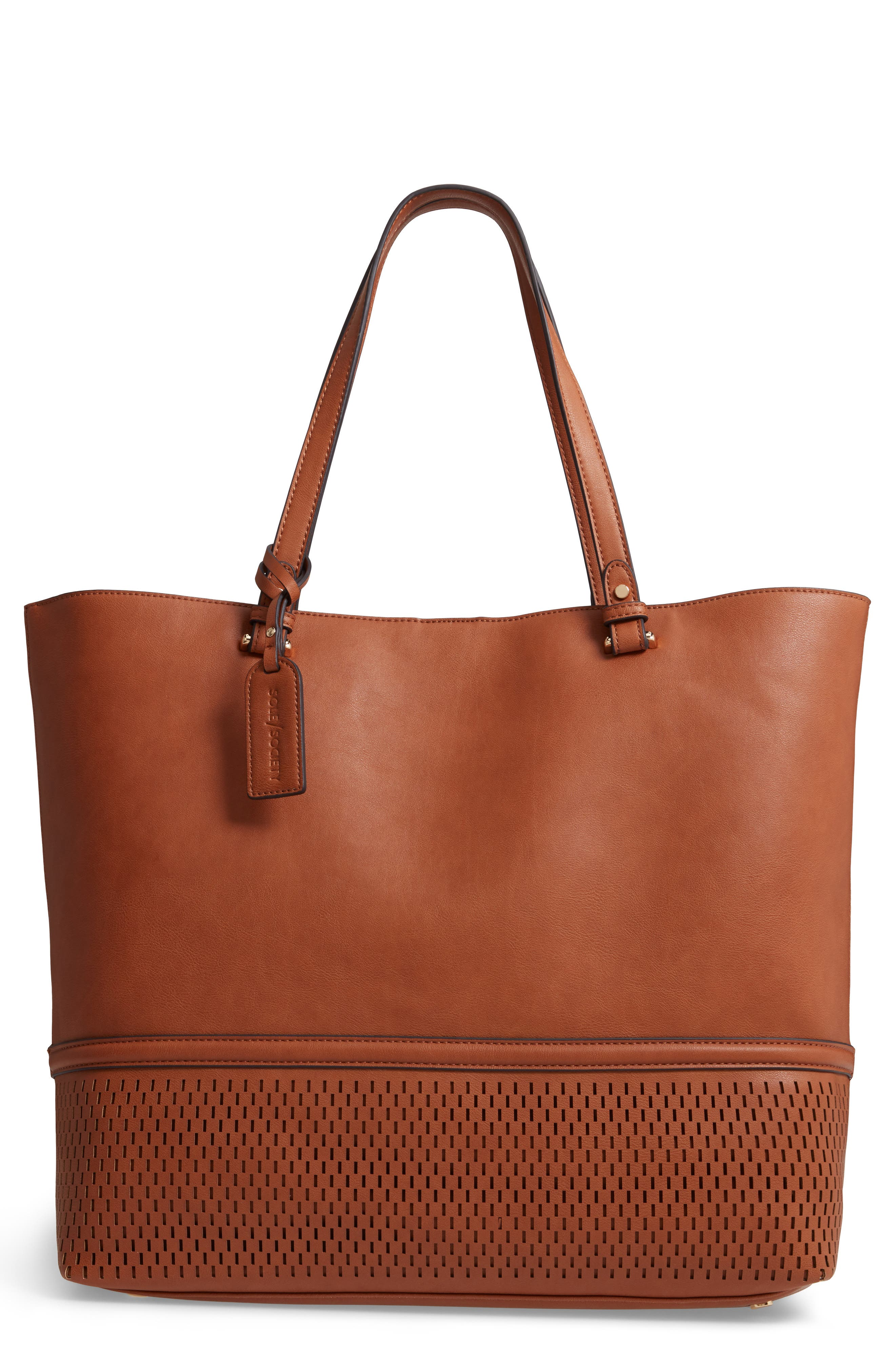 Oversize Faux Leather Tote,                         Main,                         color, 230