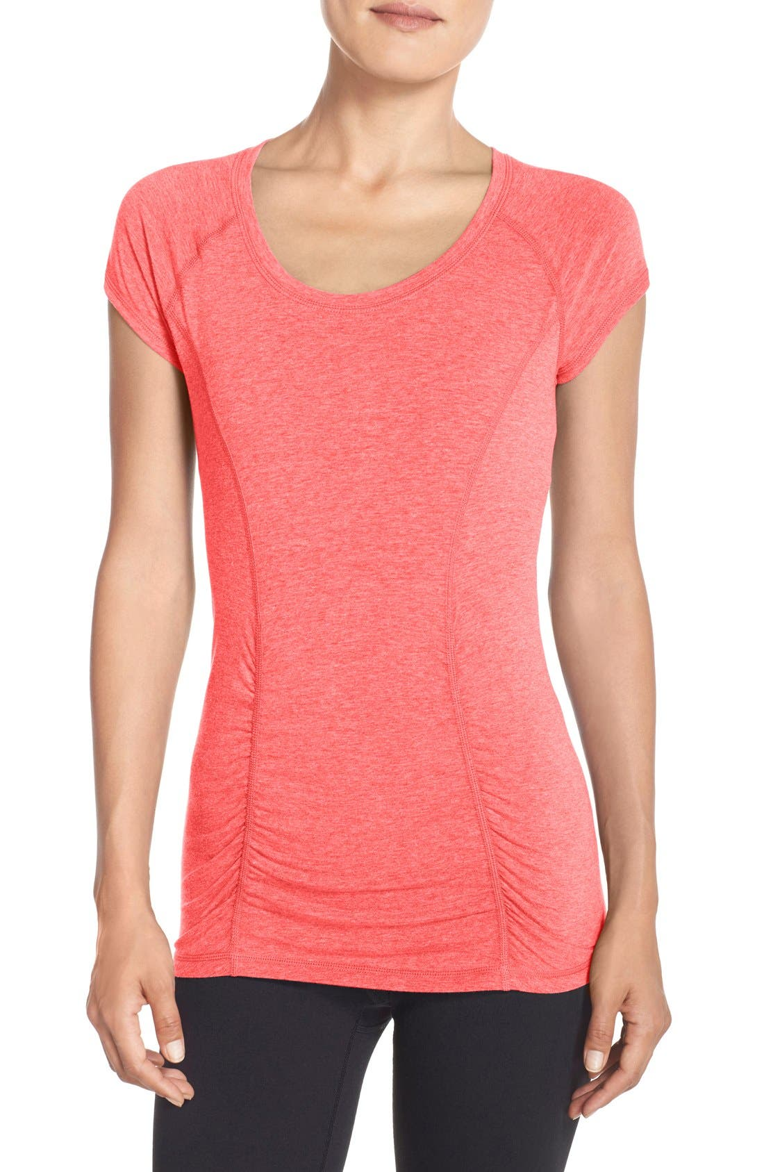 'Z 6' Ruched Tee,                             Main thumbnail 20, color,