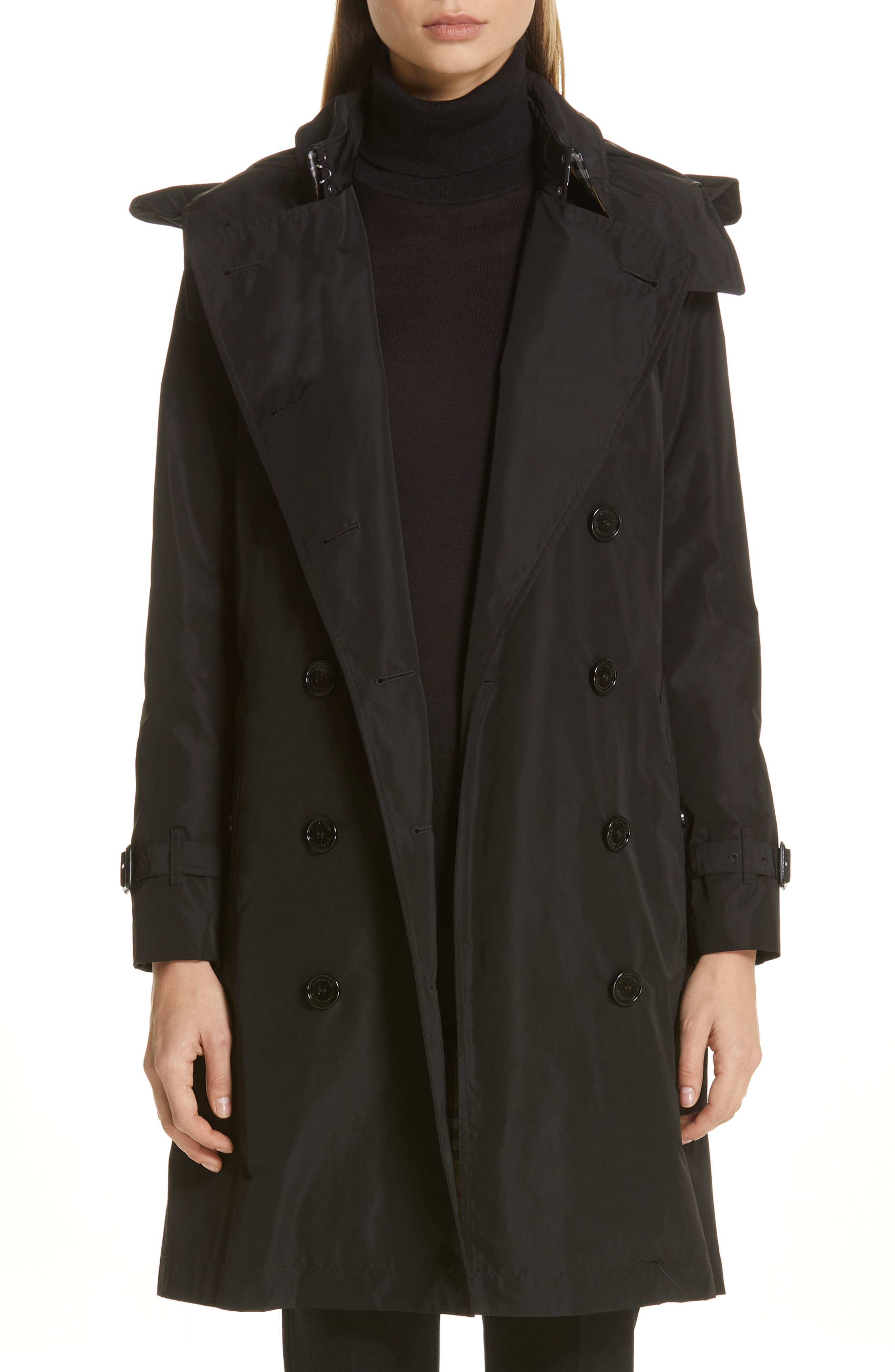 Kensington Trench Coat With Detachable Hood by Burberry
