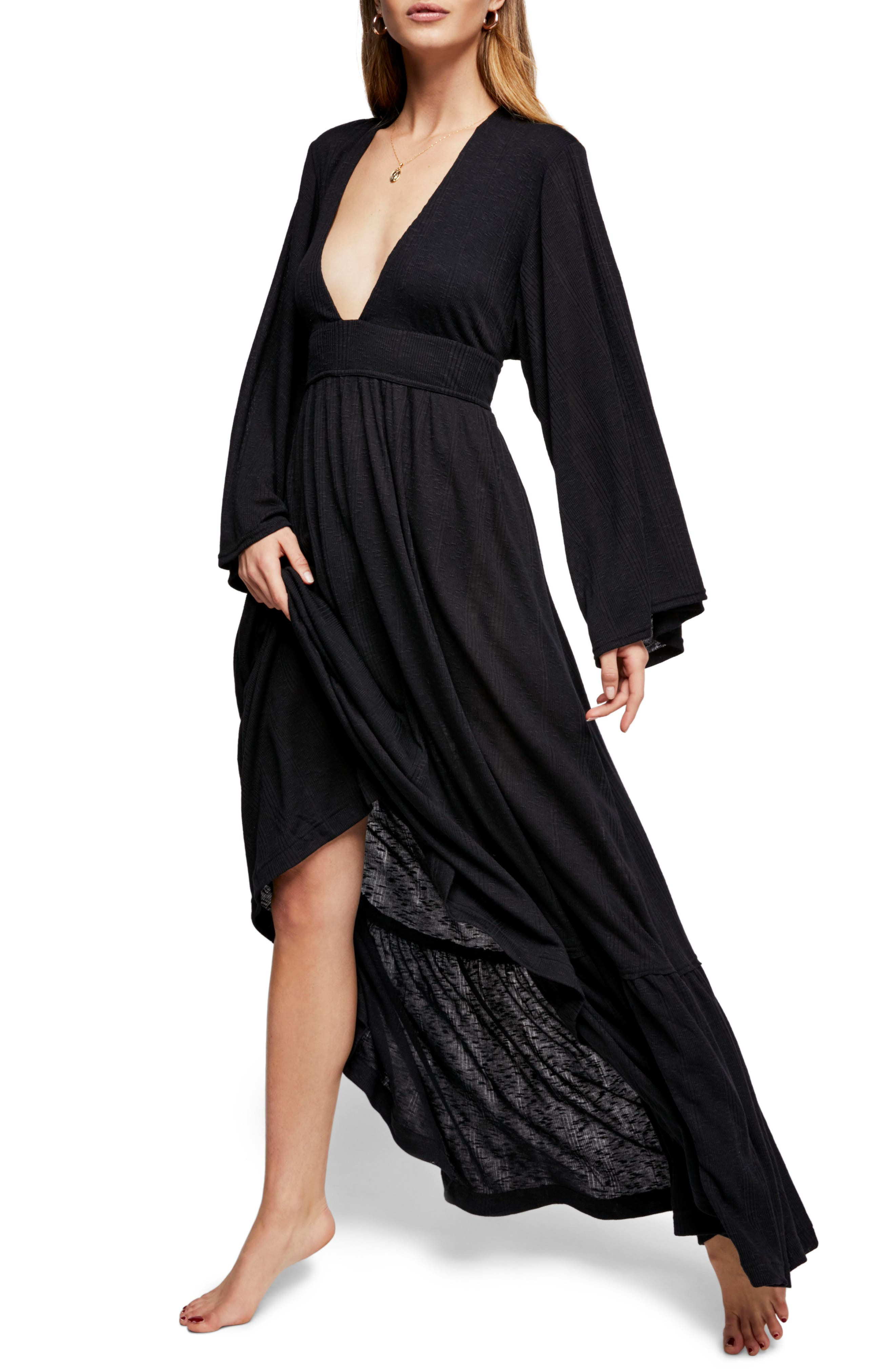 Endless Summer by Free People Moon Walking Maxi Dress,                             Main thumbnail 1, color,                             001