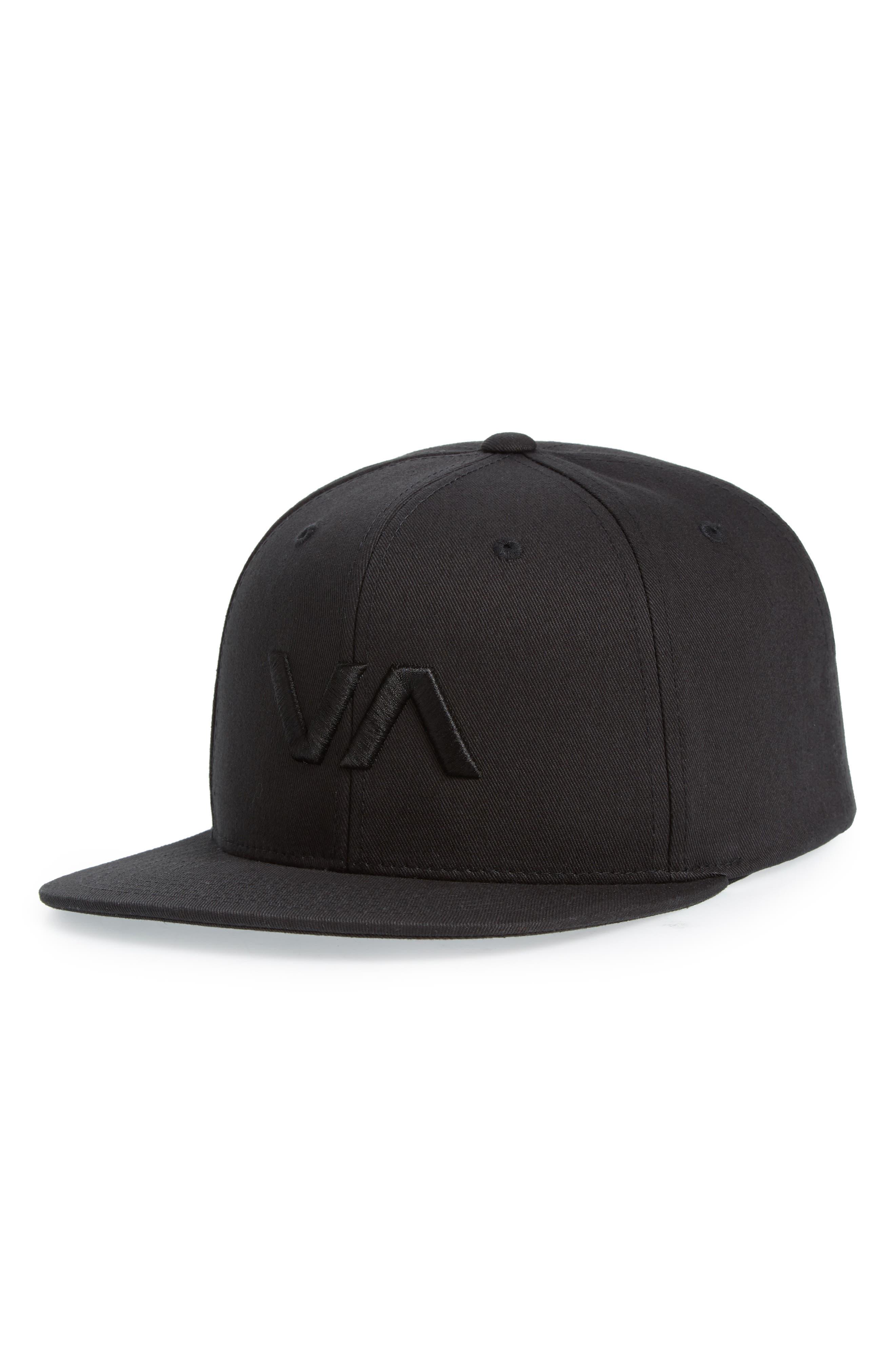 VA Snapback II Snapback Hat,                         Main,                         color, BLACK/ BLACK