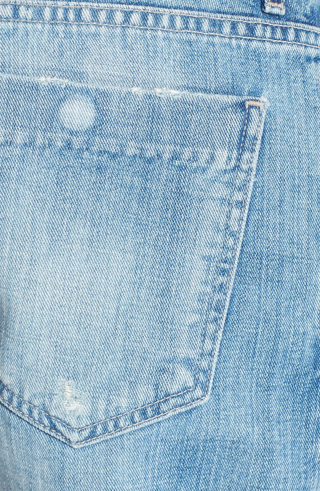 'Skler' Denim Shorts,                             Alternate thumbnail 3, color,                             451