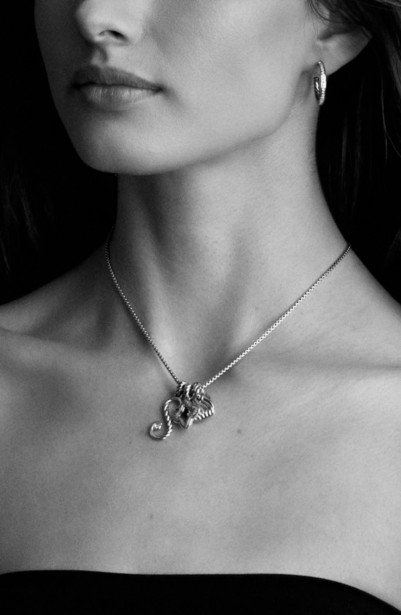 'Chain' Baby Box Chain Necklace,                             Alternate thumbnail 4, color,                             TWO TONE