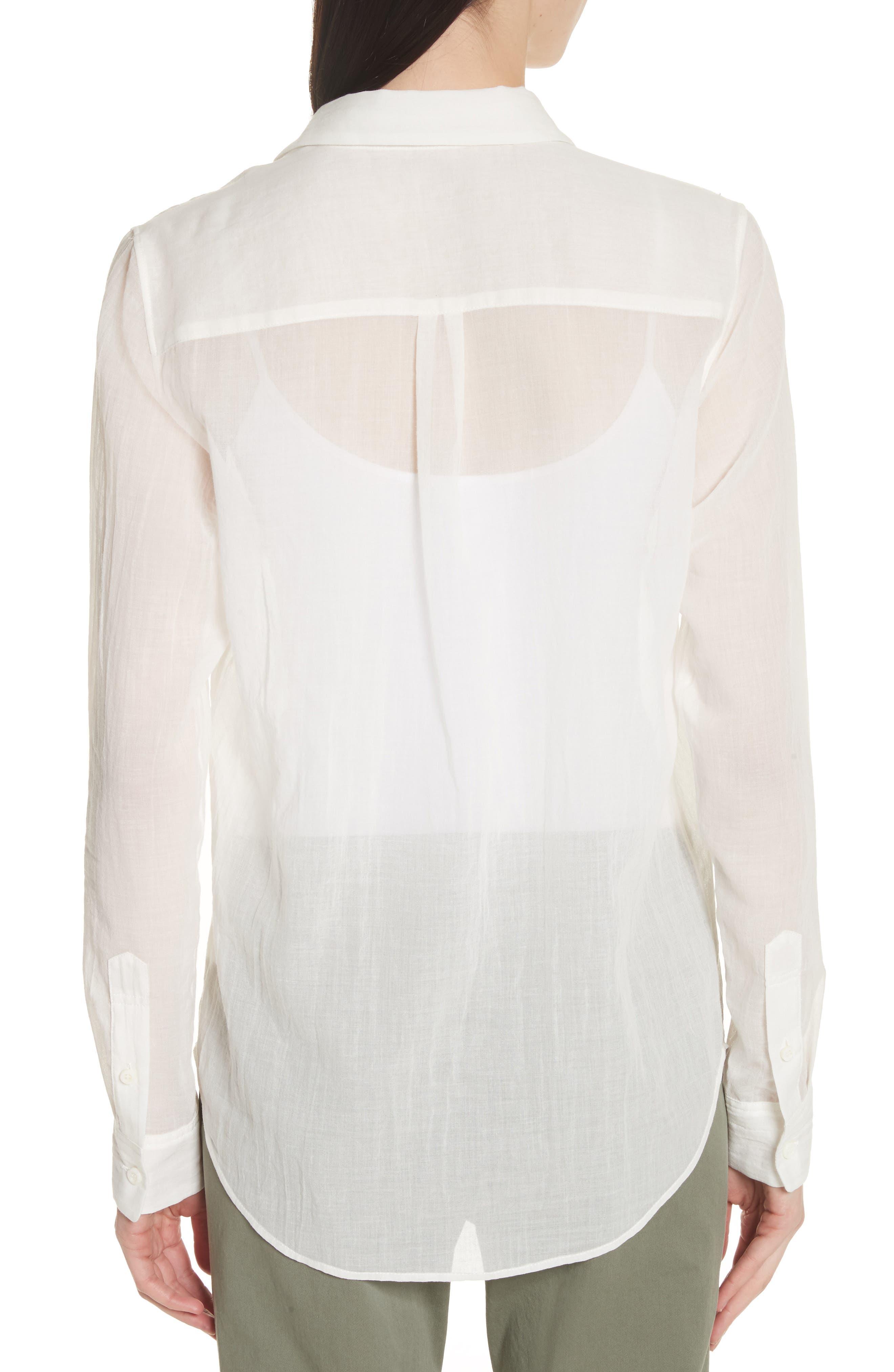 Essential Button-Down Cotton Shirt,                             Alternate thumbnail 4, color,