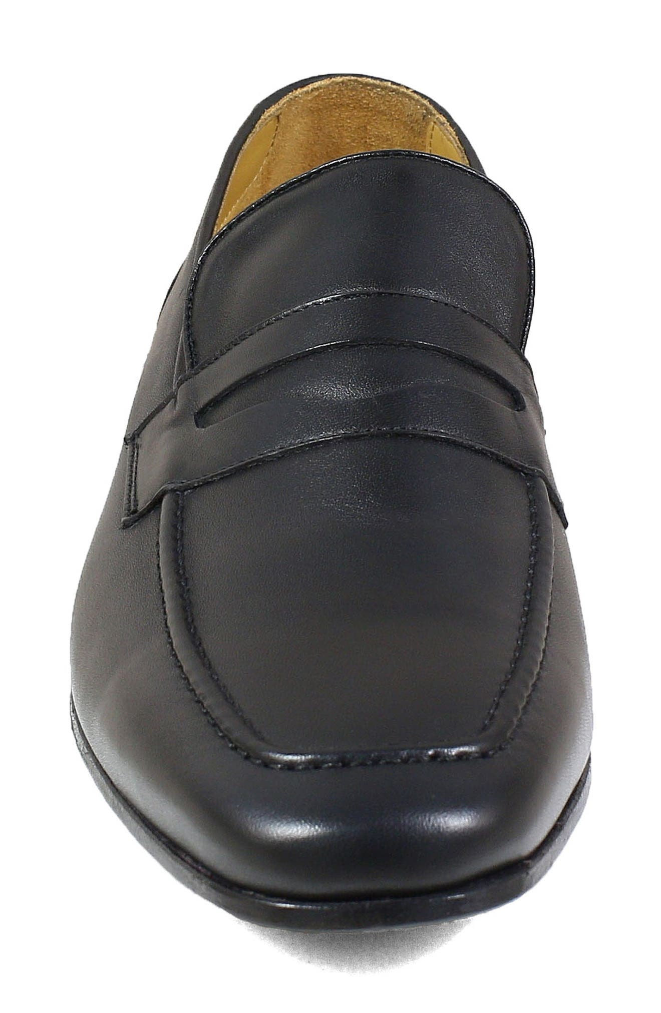 Imperial Hotter Penny Loafer,                             Alternate thumbnail 4, color,                             BLACK LEATHER