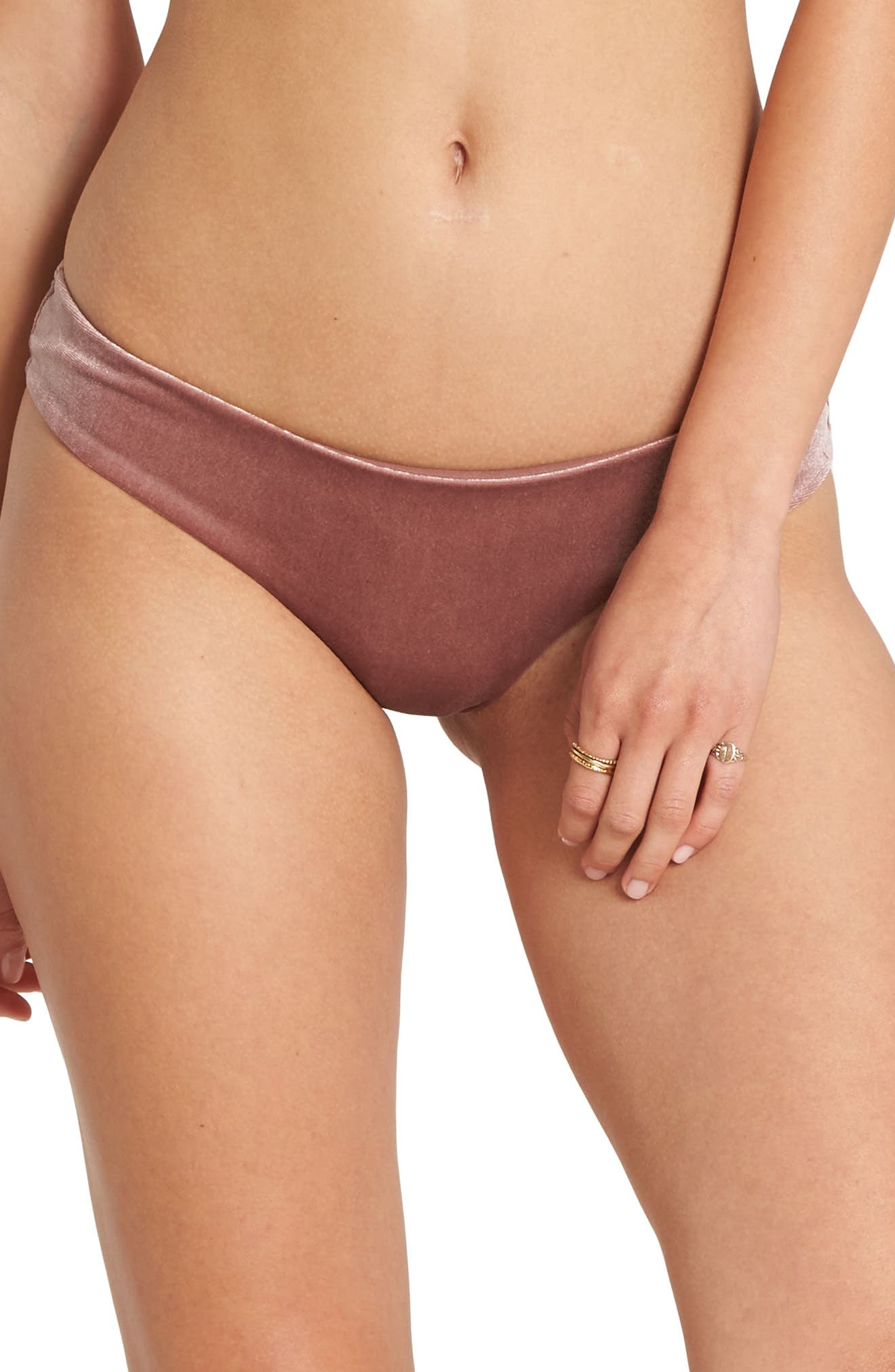 Fool4U Hawaii Low Rise Bikini Bottoms,                         Main,                         color, VINTAGE PLUM