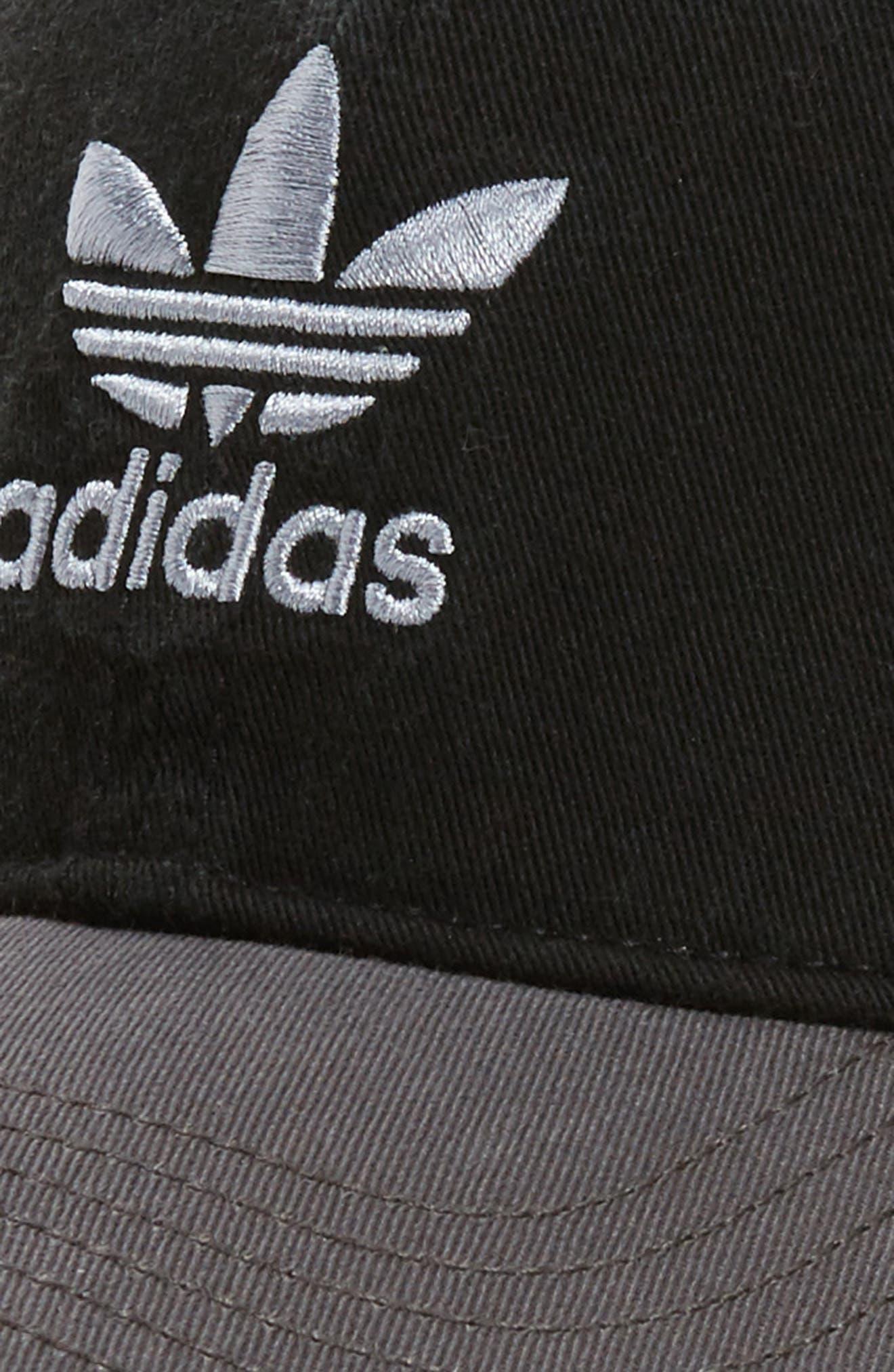 Relaxed Snapback Baseball Cap,                             Alternate thumbnail 3, color,                             001