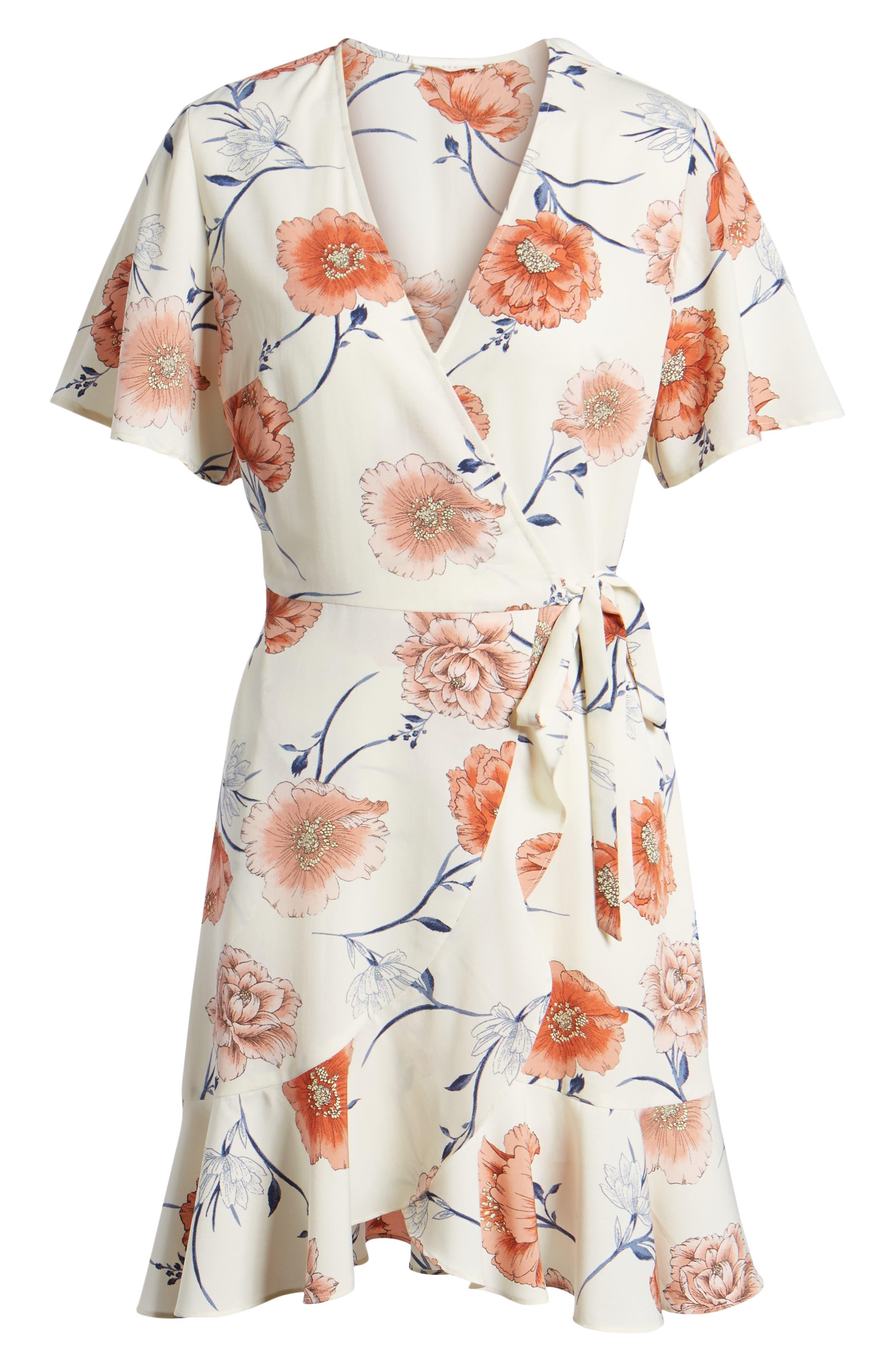 Lucy Floral Wrap Dress,                             Alternate thumbnail 24, color,