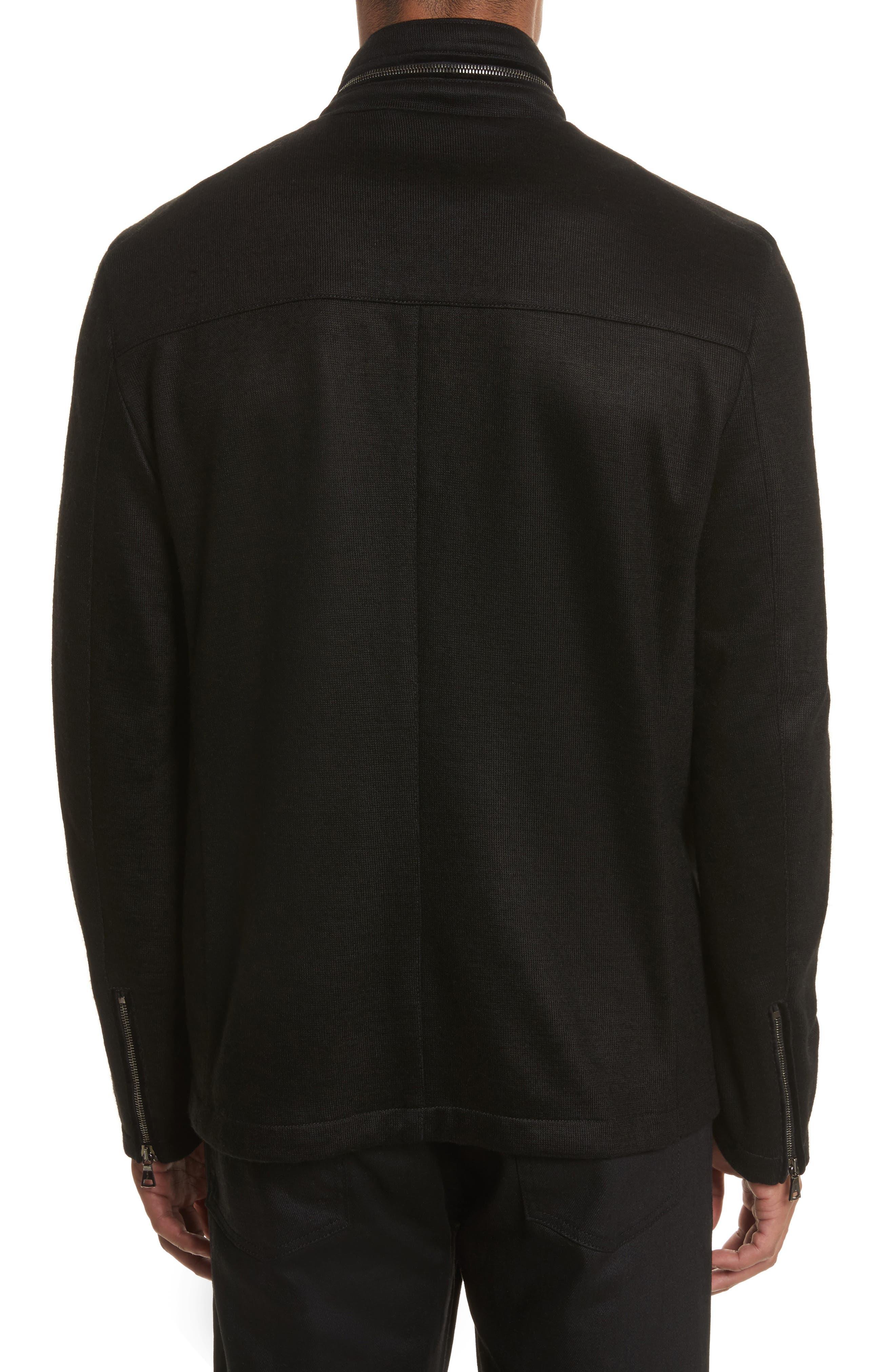 Cotton & Wool Jacket,                             Alternate thumbnail 2, color,                             001