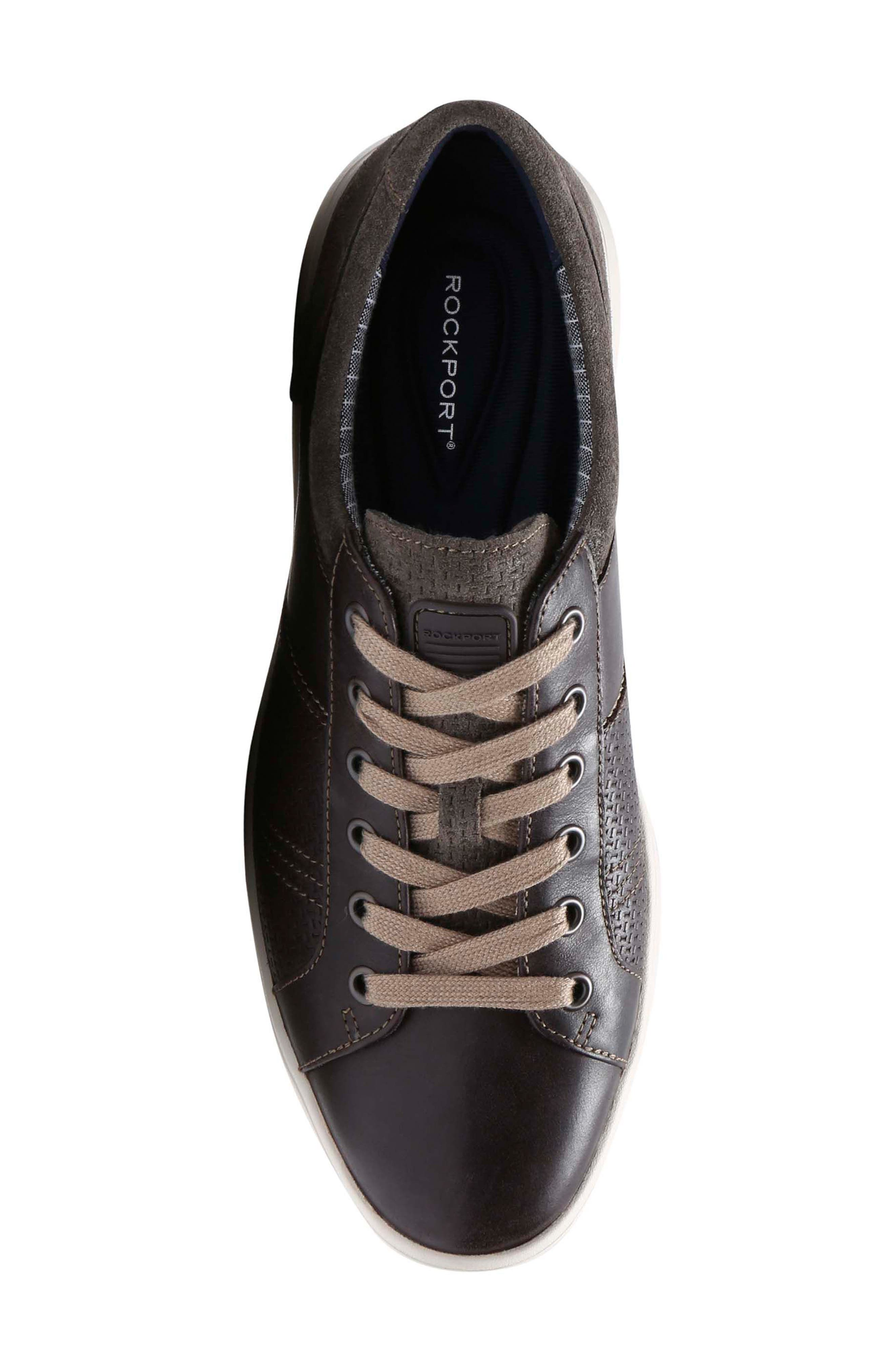 Colle Textured Sneaker,                             Alternate thumbnail 5, color,                             COFFEE LEATHER