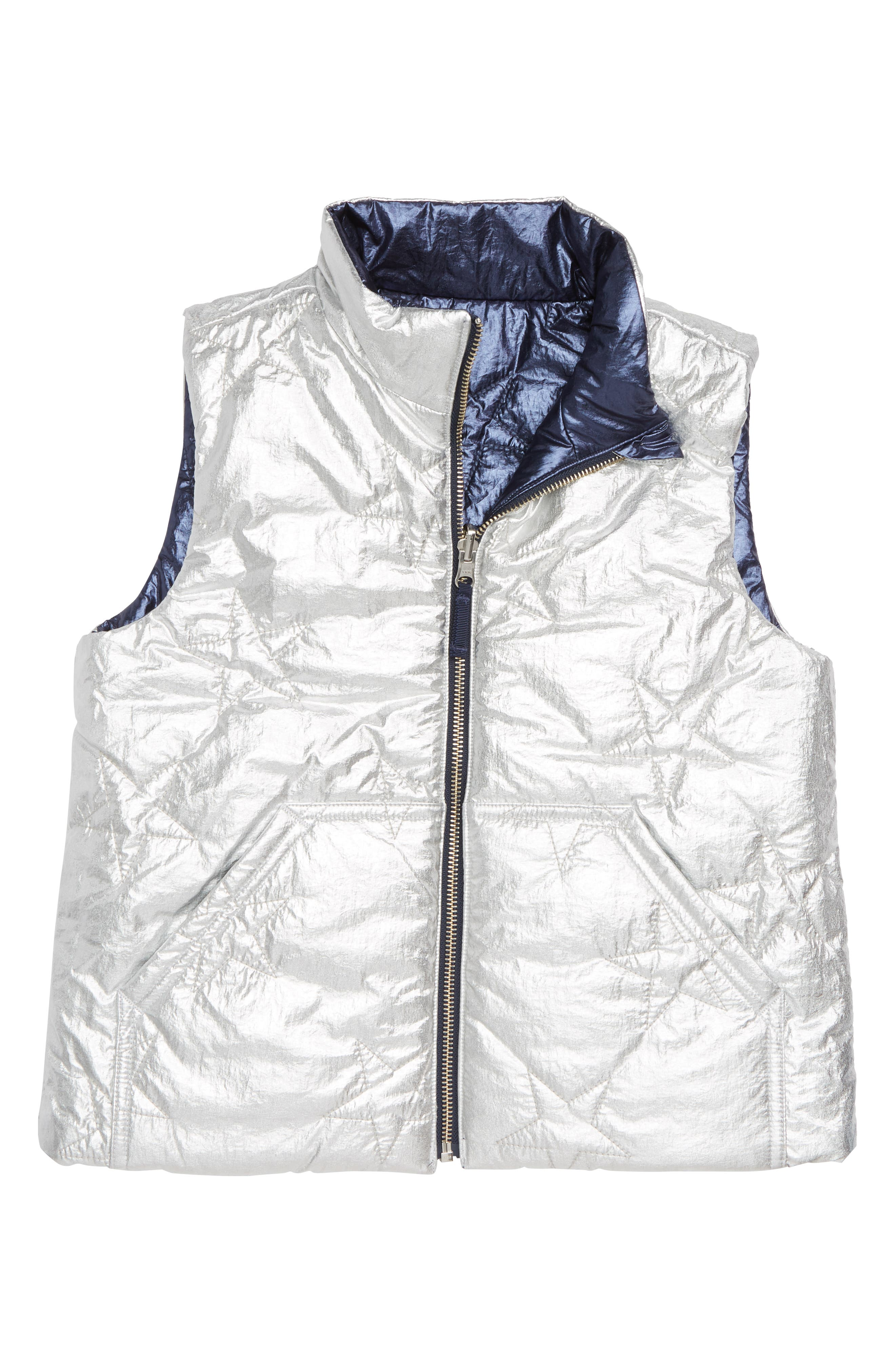 Metallic Reversible Puffer Vest,                             Alternate thumbnail 2, color,                             040
