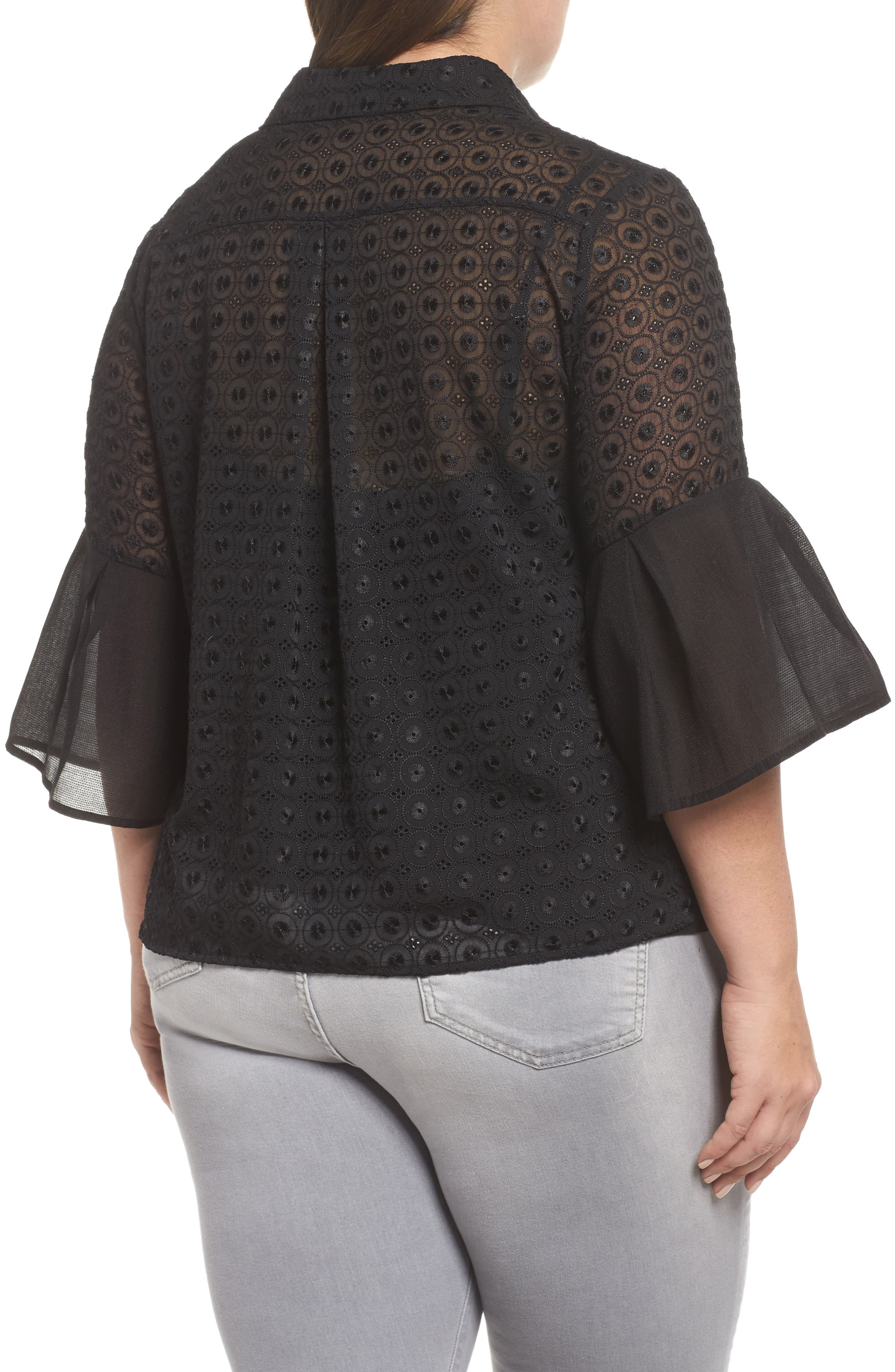 The Mantle Broderie Blouse,                             Alternate thumbnail 2, color,                             001