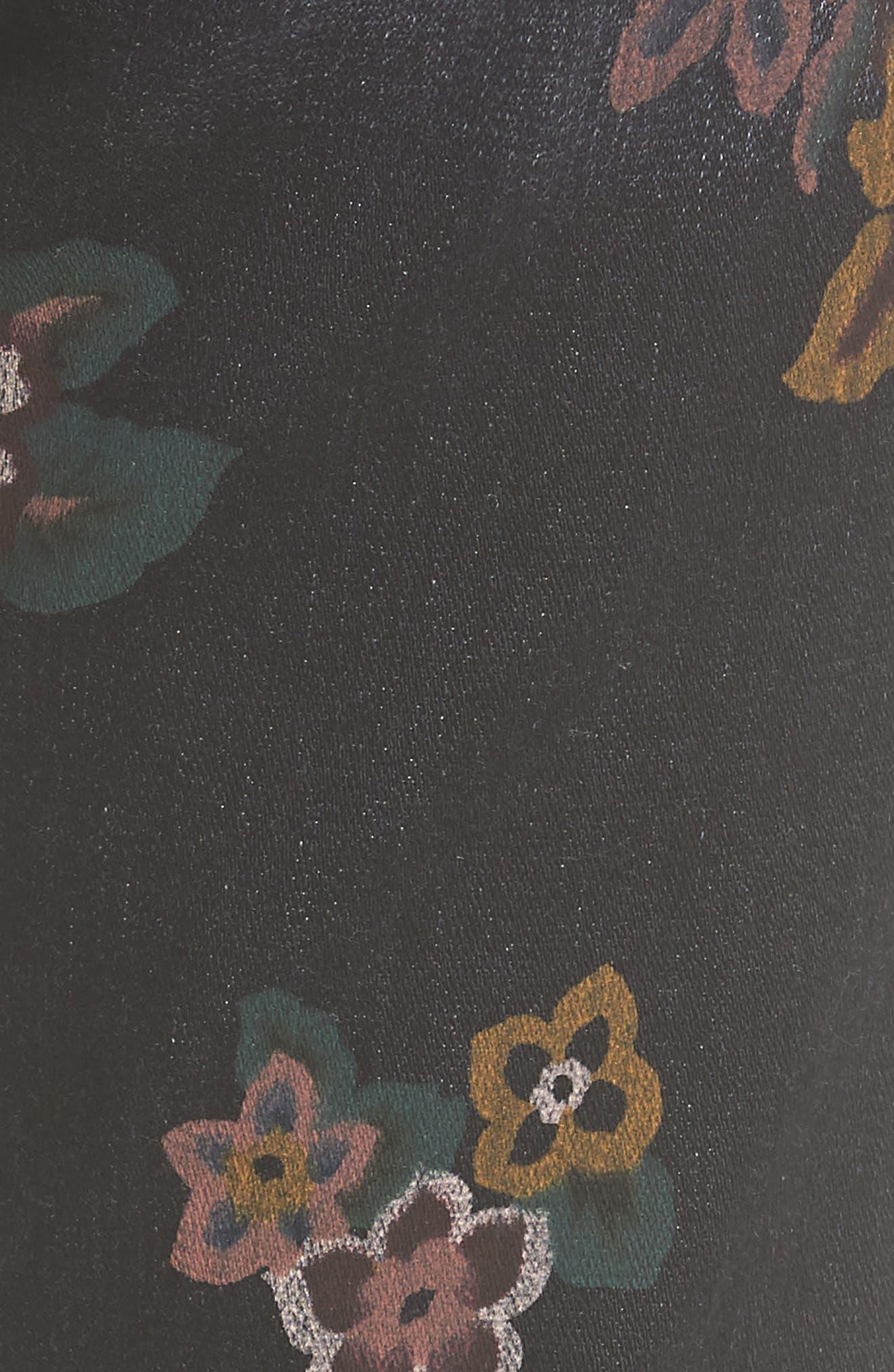 Roxanne Floral Print Ankle Slim Jeans,                             Alternate thumbnail 5, color,                             004