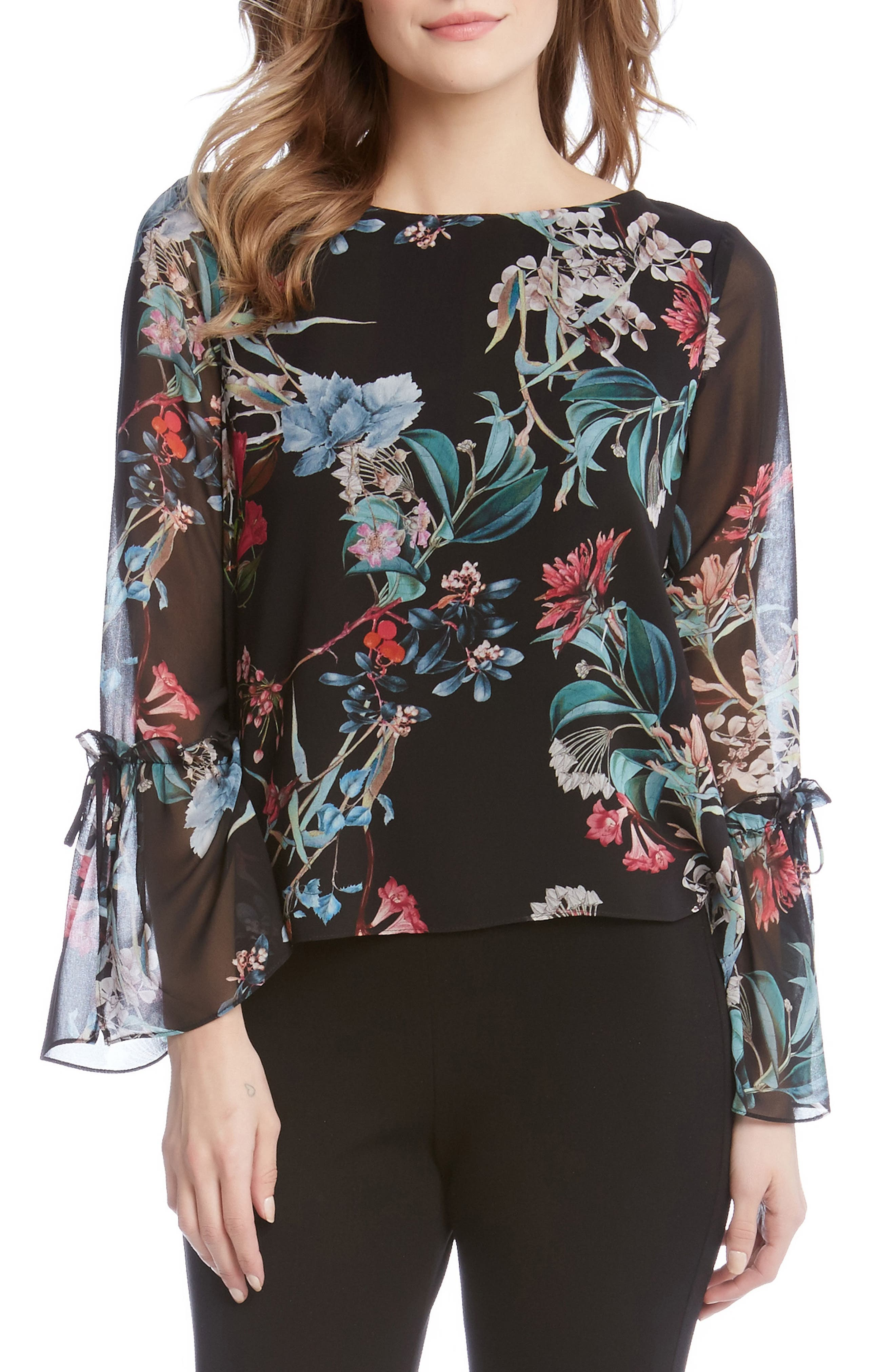 Tie Sleeve Blouse,                         Main,                         color, 560